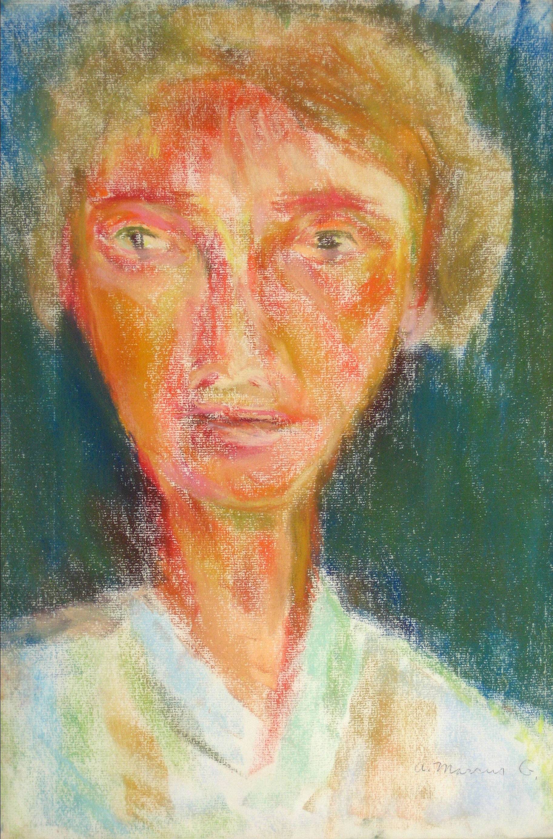 <i>Self Portrait No. 6</i><br>1960s Pastel<br><br>#15277