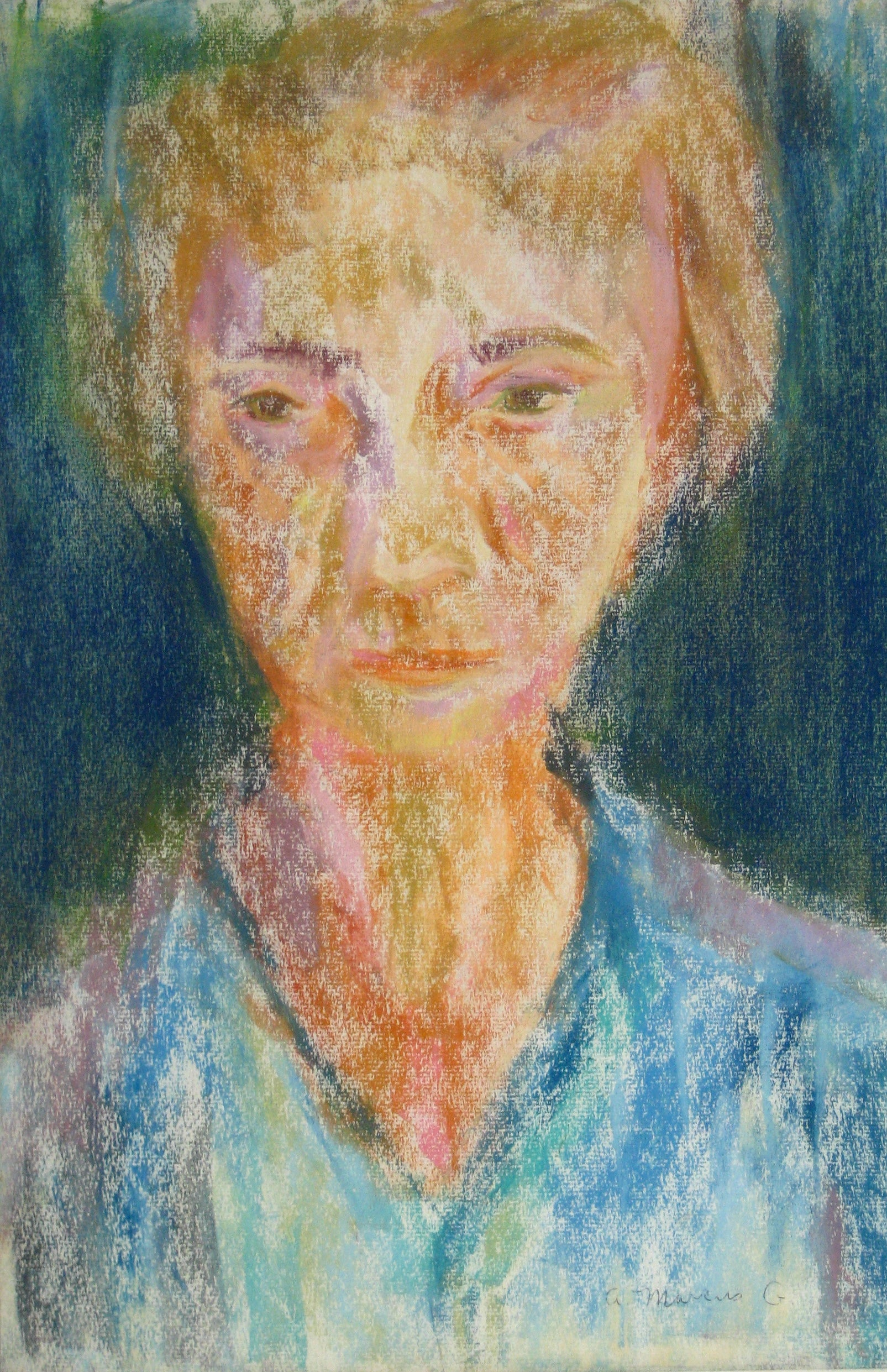 <i>Portrait of a Redhead</i><br>Pastel, 1964<br><br>#15280