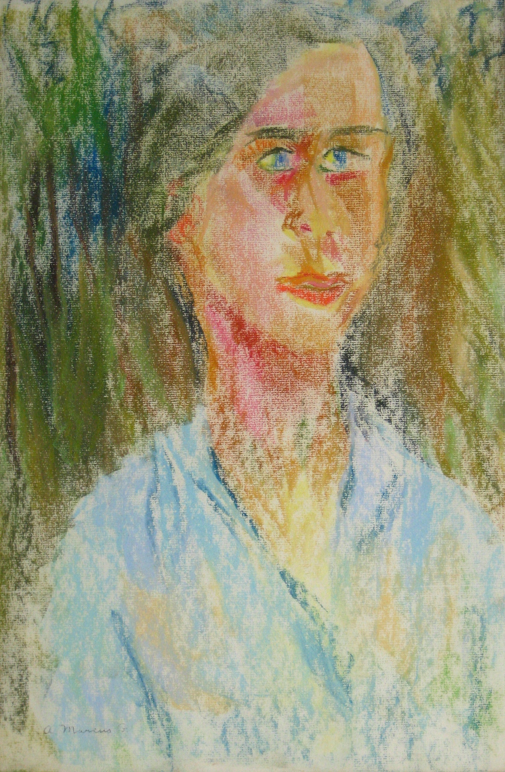 <i>Lady in the Forest</i><br>1950-60s Pastel<br><br>#15282