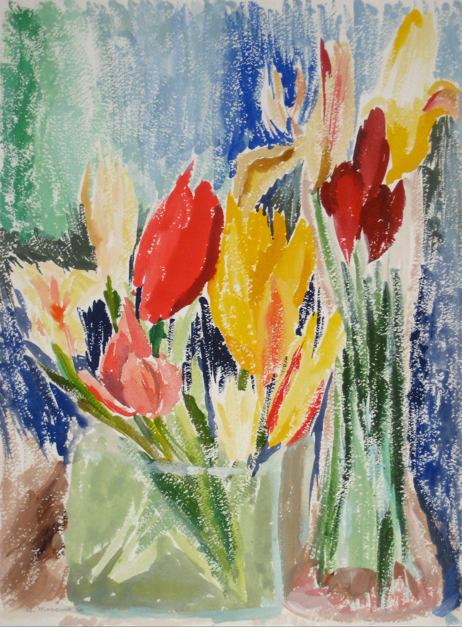 <i>Tulips</i><br> Watercolor Still Life<br><br>#15293