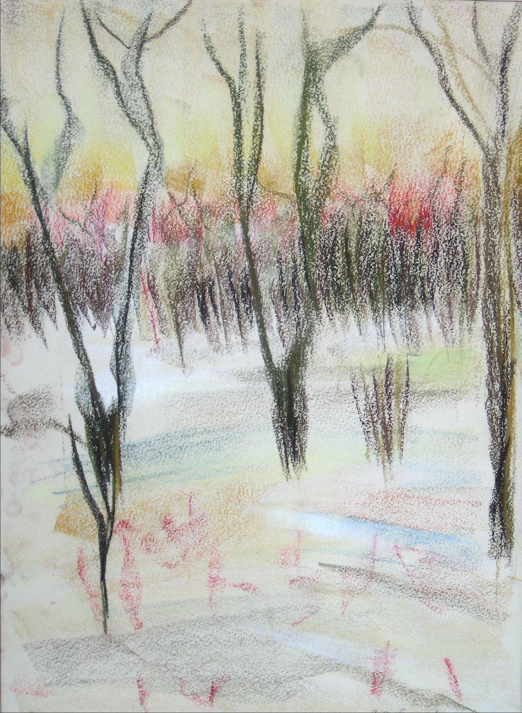 <i>Winter Sunset</i><br>1964 Pastel<br><br>#15367