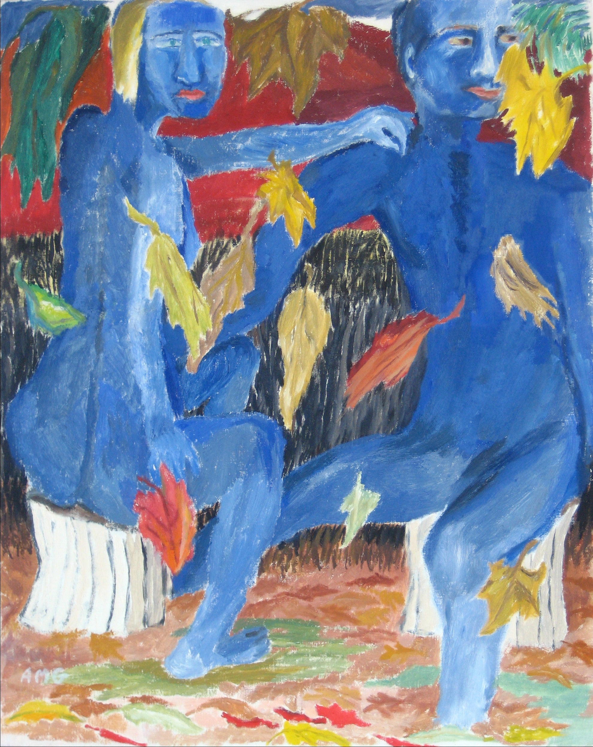 <i>Falling Leaves</i><br>Oil on Canvas, 1985<br><br>#15378