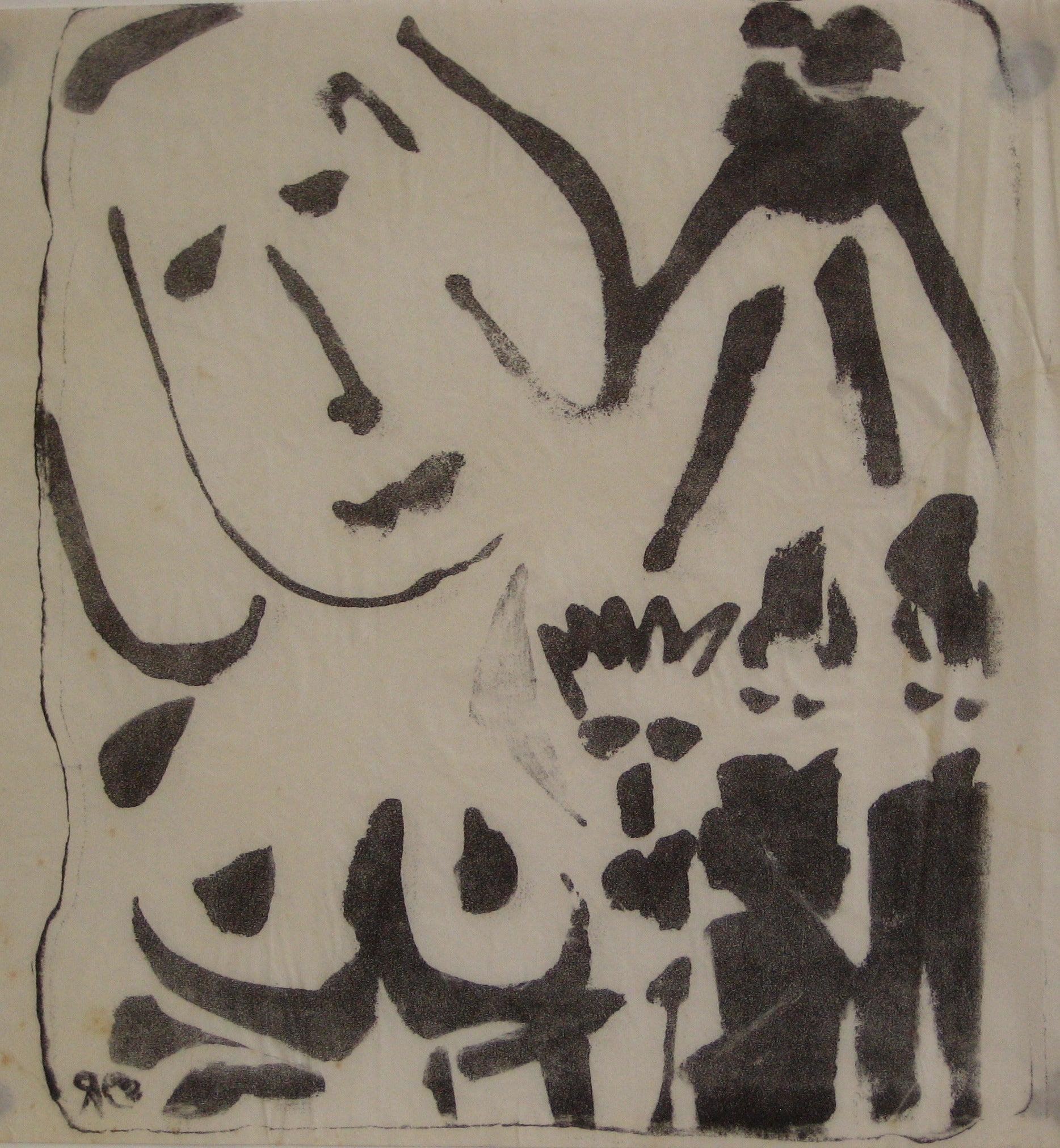 Modernist Abstracted Figures<br>1940-70s, Lithograph<br><br>#5379