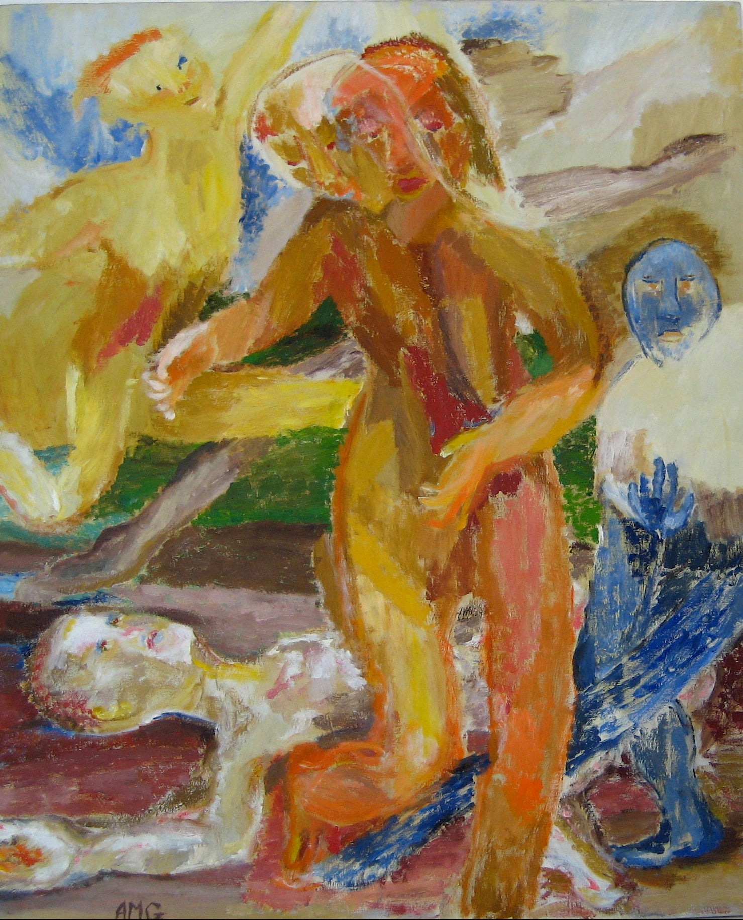 <i>Dance</i><br>Abstracted Oil Scene<br><br>#15498