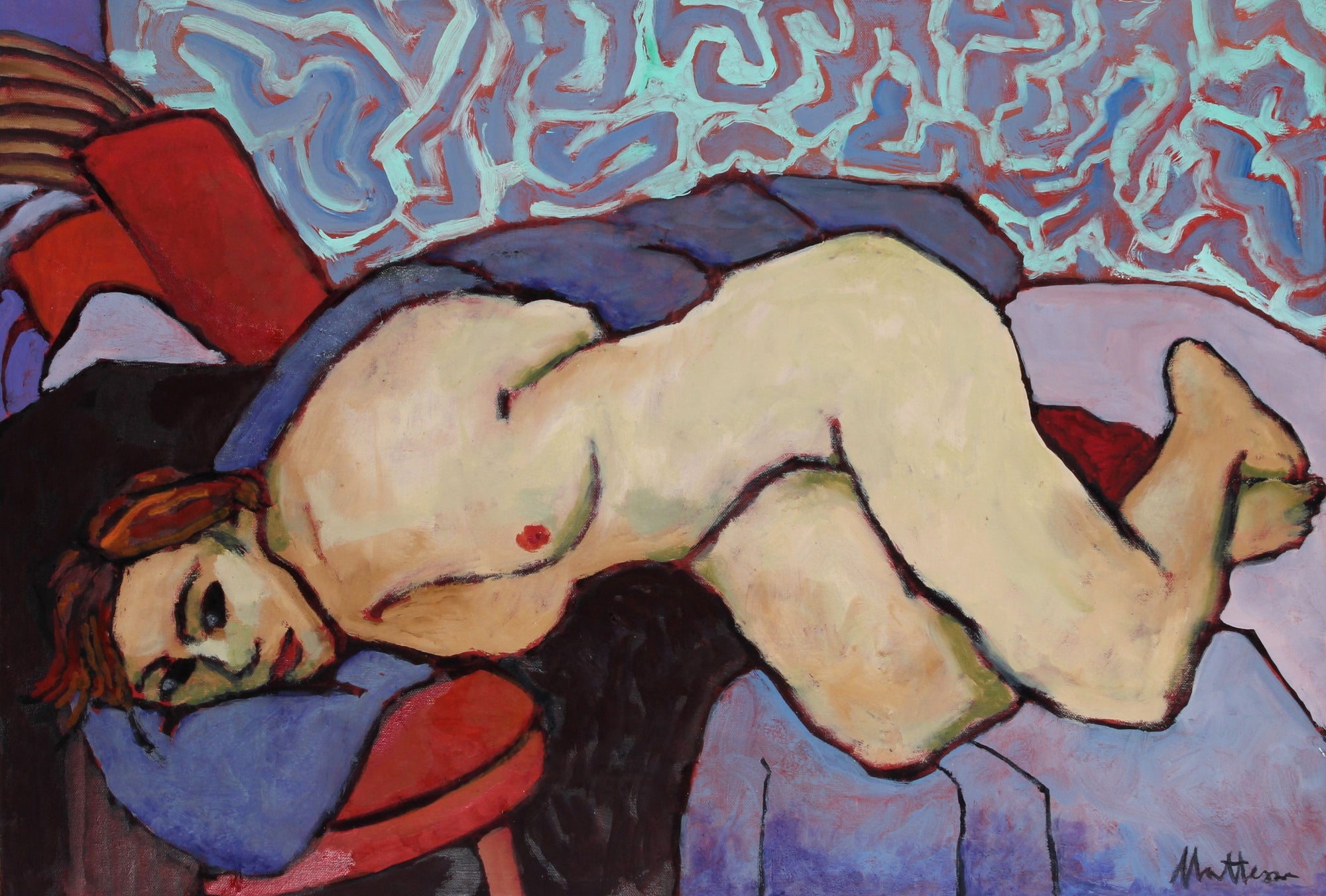 Late 20th Century Nude in Repose Oil <br><br>#56550