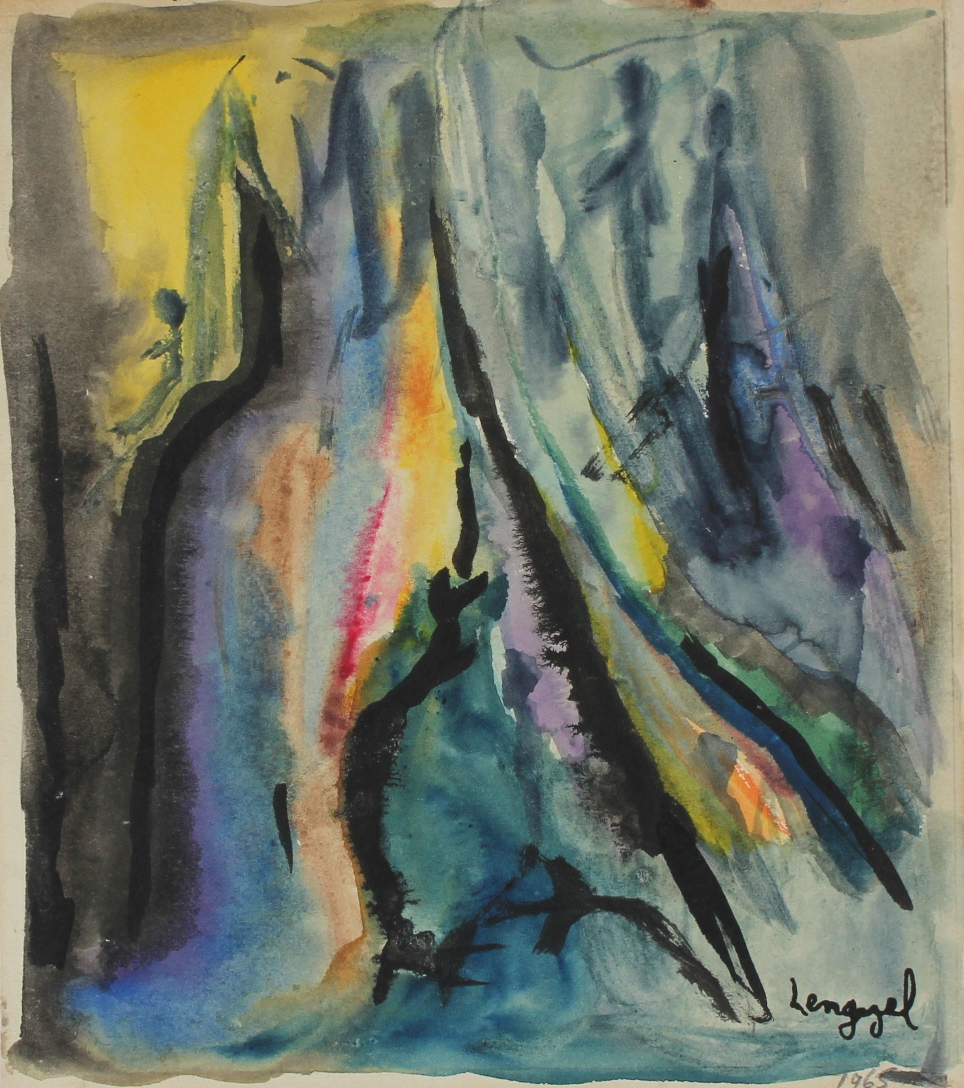 <I>May in the Elements</I> <br>1965 Watercolor <br><br>#56770