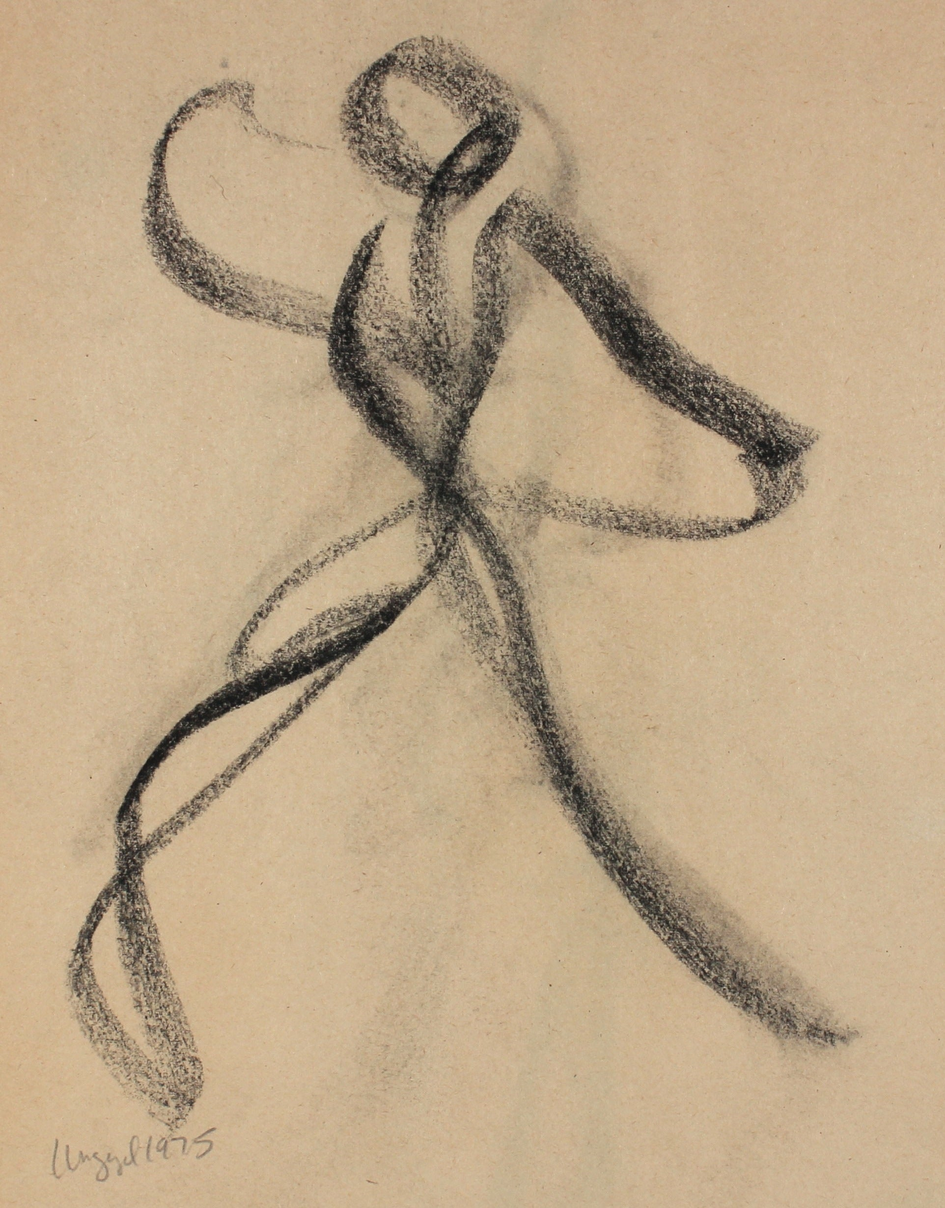 Loose Abstracted Figure<br>1975 Charcoal<br><br>#57111