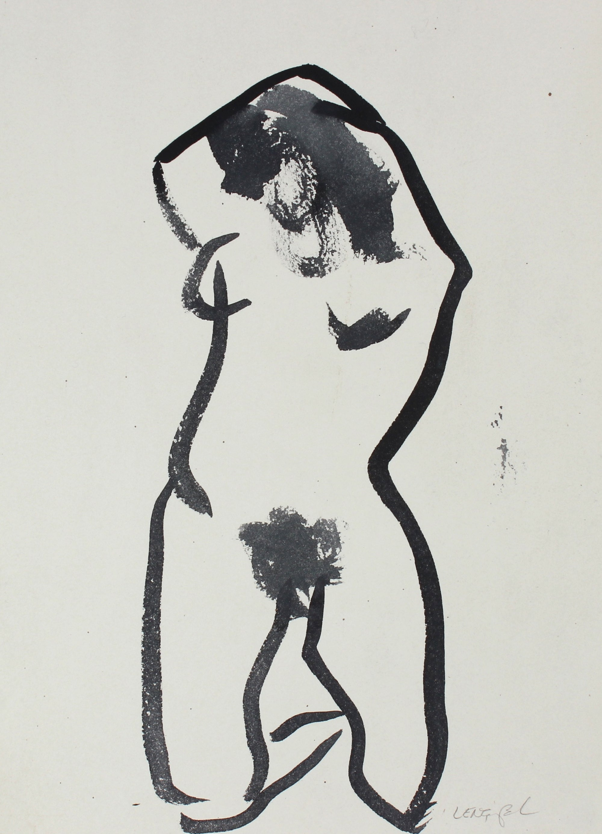 Monochrome Watercolor Nude, 1980<br><br>#57120