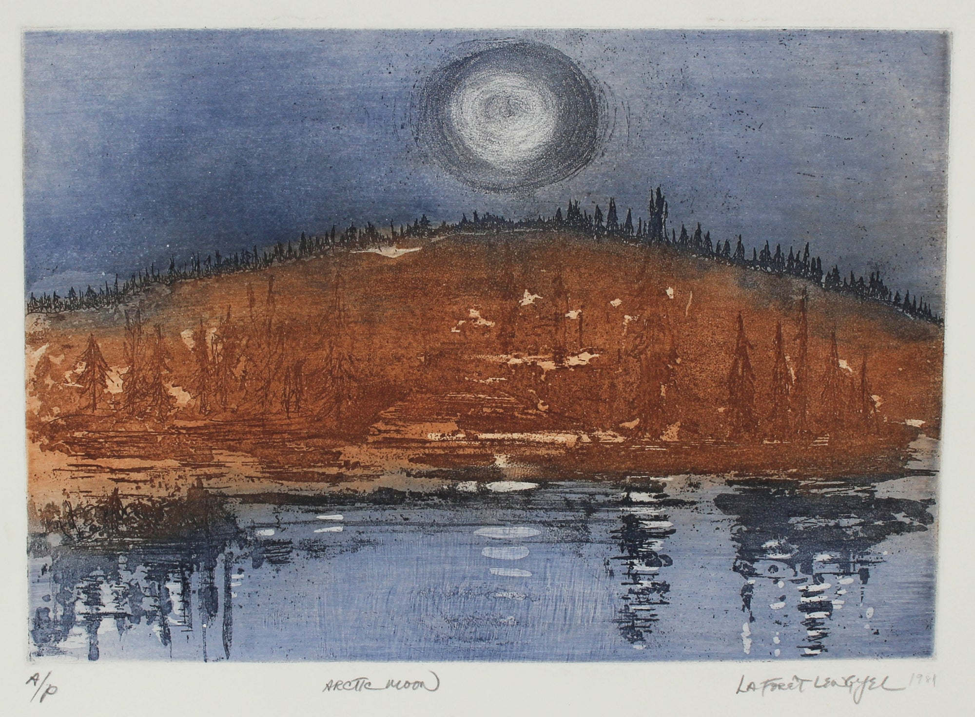 <i>Artic Moon</i><br>1981 Landscape Etching<br><br>#57255