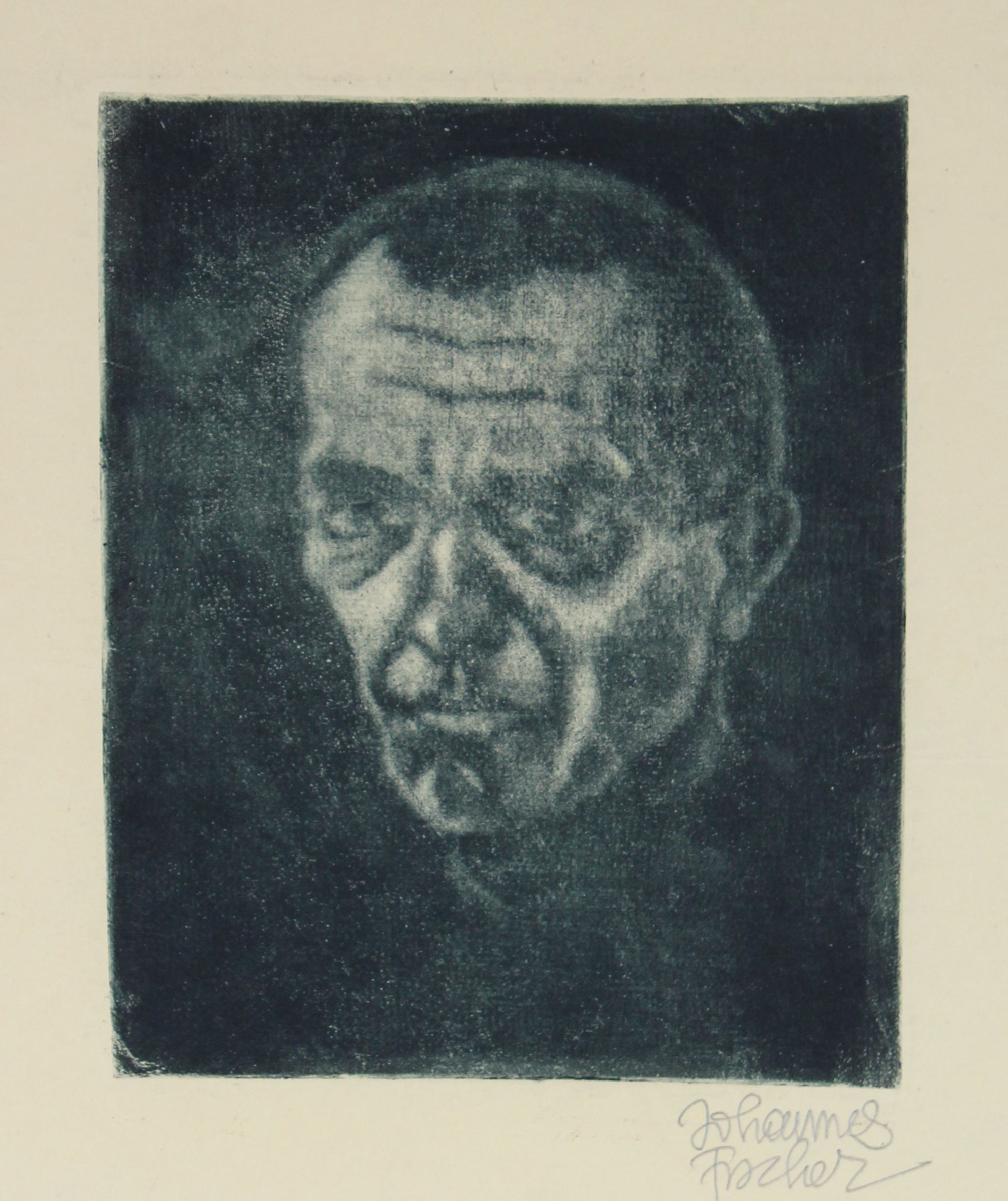Portrait from the Austrian Secession<br>1920s Etching<br><br>#60118