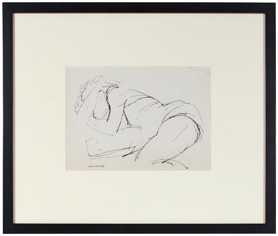 Woman in Repose<br>Ink, Mid Century<br><br>#58066