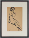 Coy European Nude <br>Early 20th Century Drawing <br><br>#60082