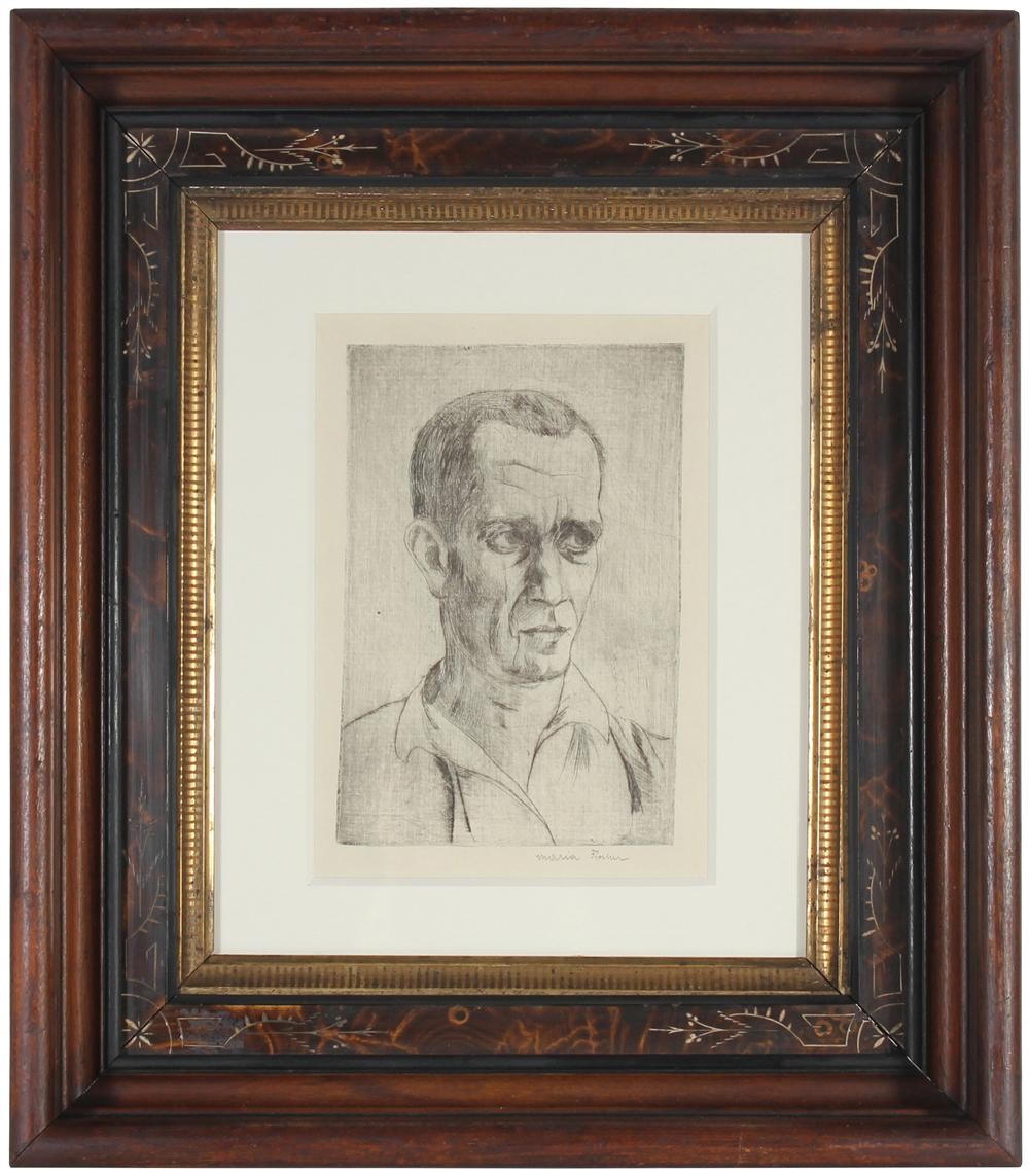 <i>Portrait of Johannes Fischer</i><br>1920s Etching<br><br>#71190