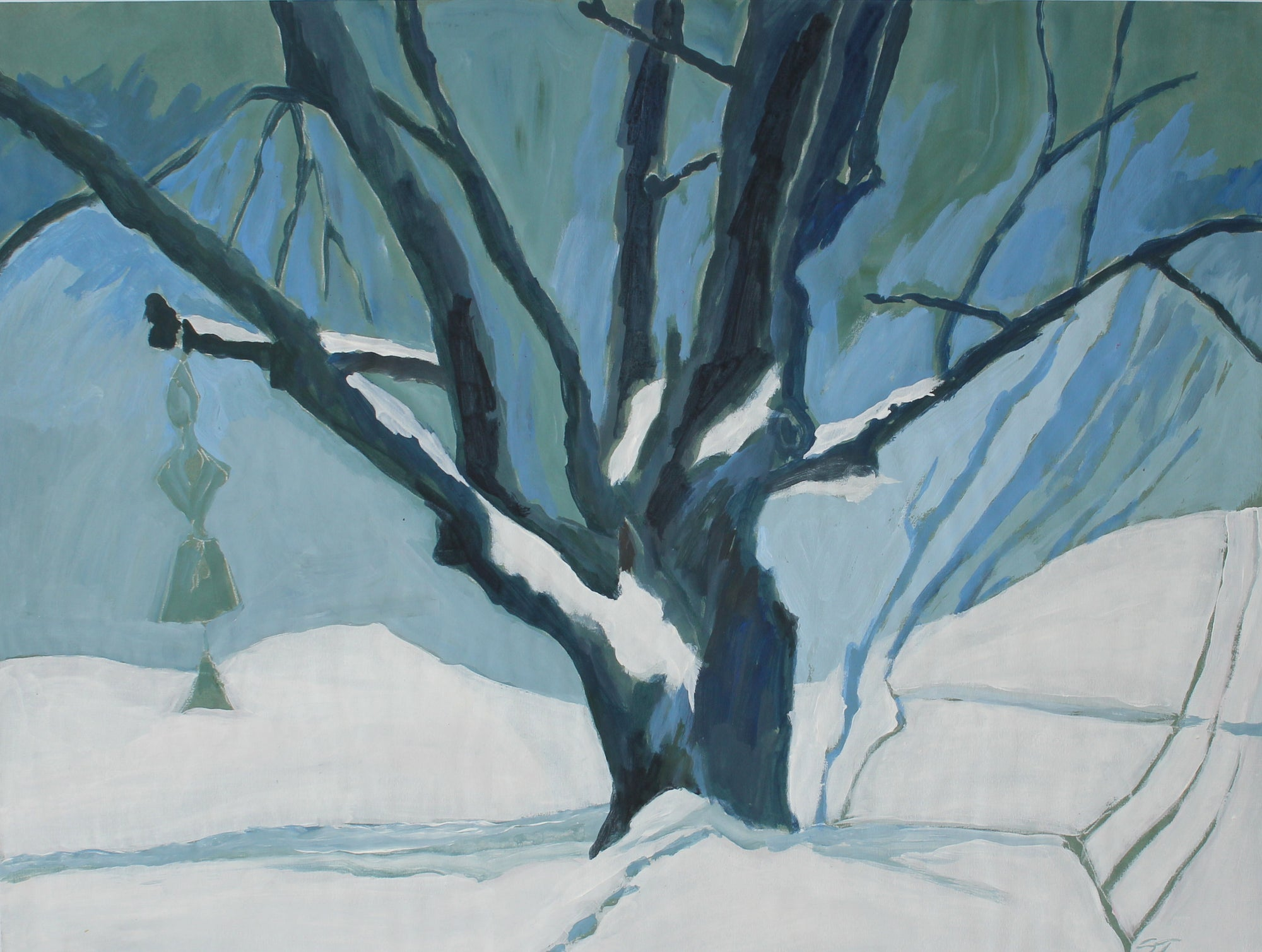 <i>Winter 1988</i> <br>1988 Acrylic on Paper <br><br>#62781