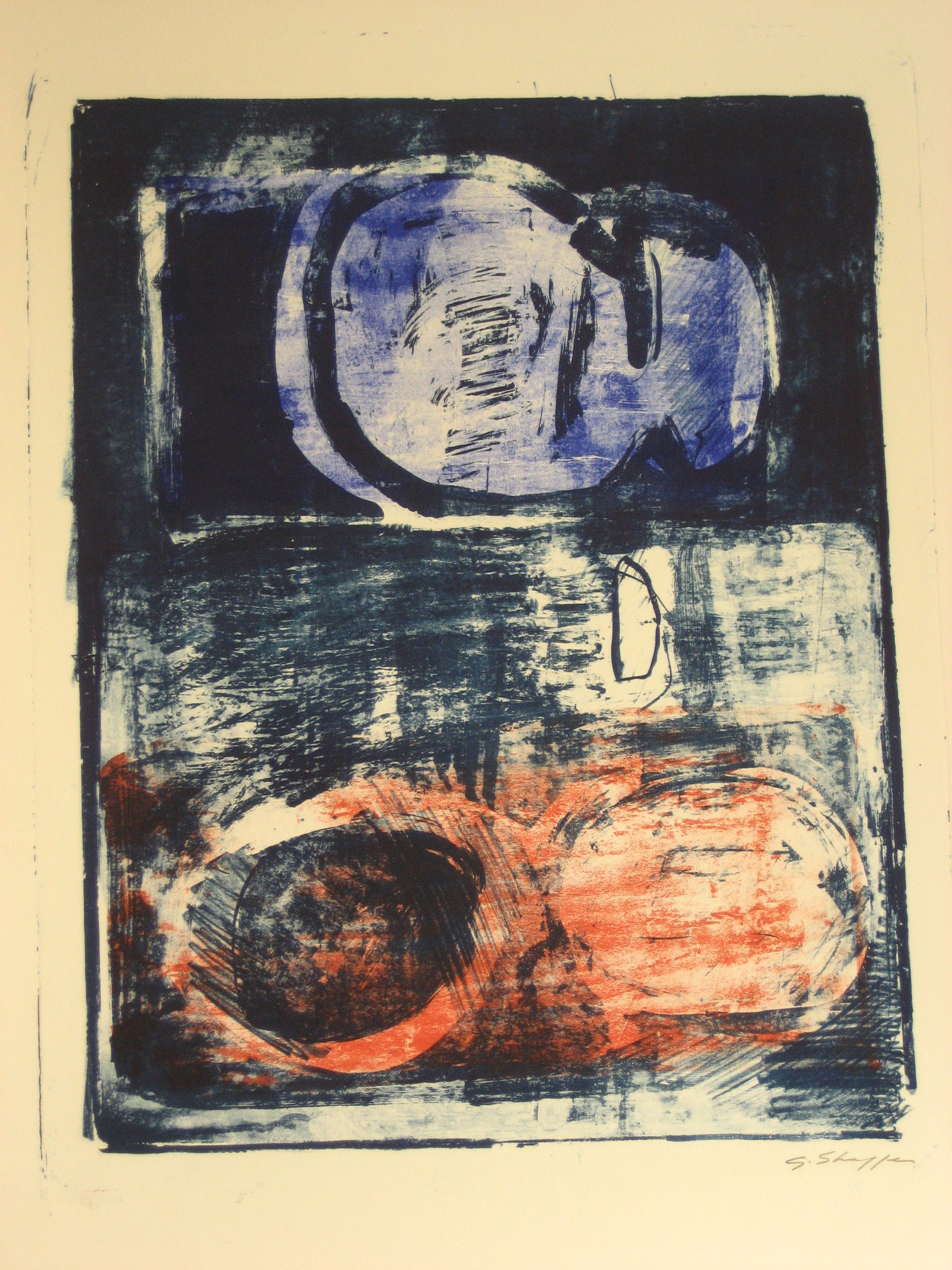 Red and Blue <br>1965 Lithograph <br><br>#6414