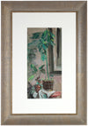Mid Century Ivy Still Life<br>Watercolor on Paper Board<br><br>#63423