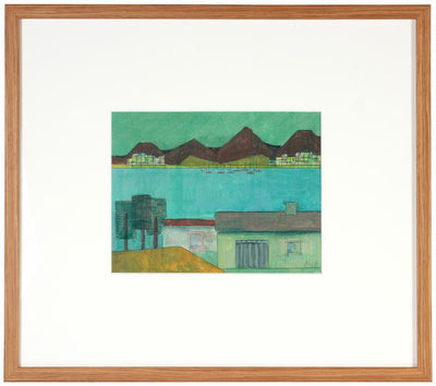 <i>House on the Lake</i><br>2008 Acrylic & Graphite Landscape<br><br>#71221