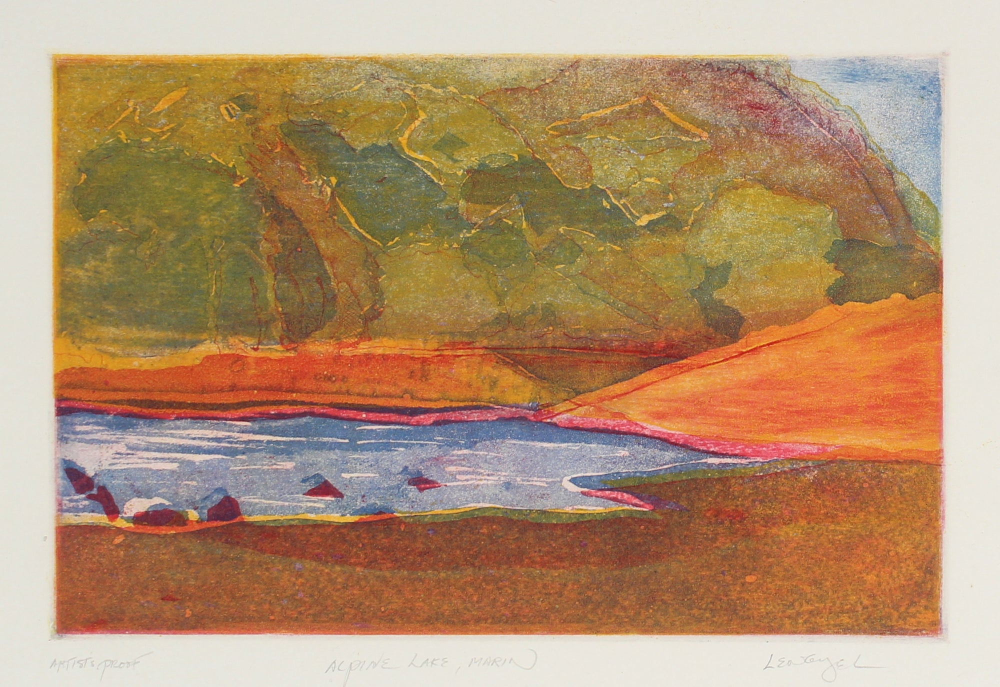 <i>Alpine Lake, Marin</i> <br>1981 Etching <br><br>#68848