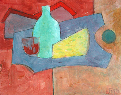 <i>Cheese and Wine</i><br>2010 Acrylic on Paper<br><br>#71227