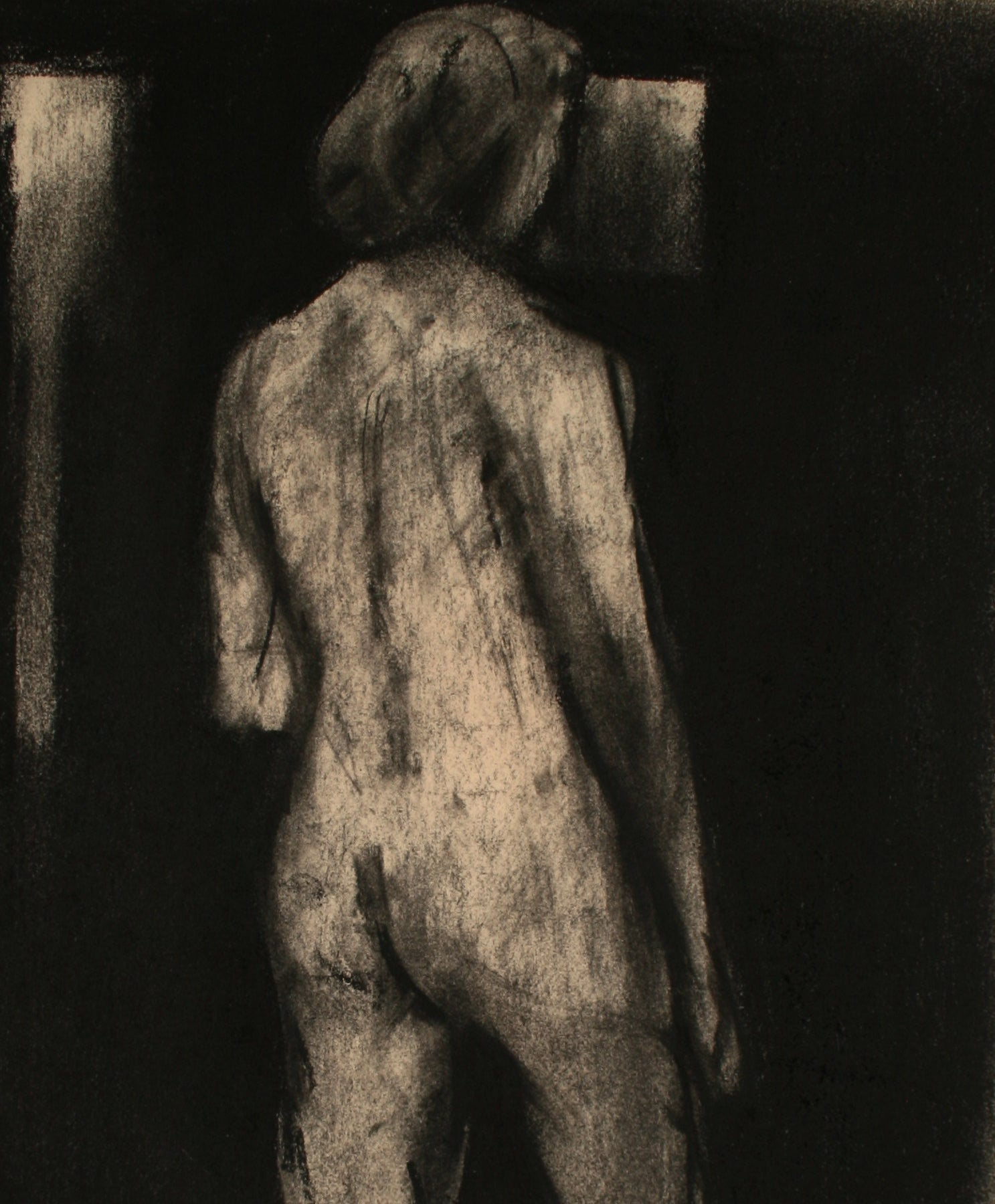 Nude in a Darkened Room <br>Late 20th Century Pastel <br><br>#71492