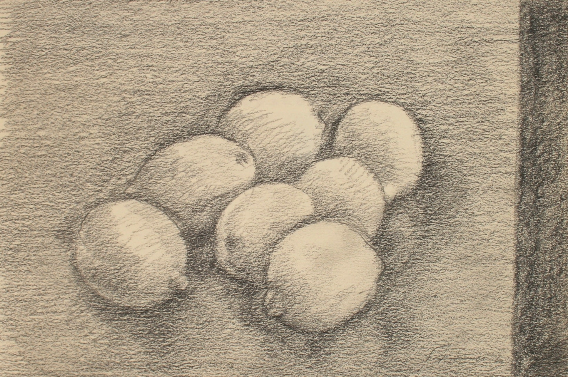 Pile of Lemons <br>Late 20th Century Graphite <br><br>#71494