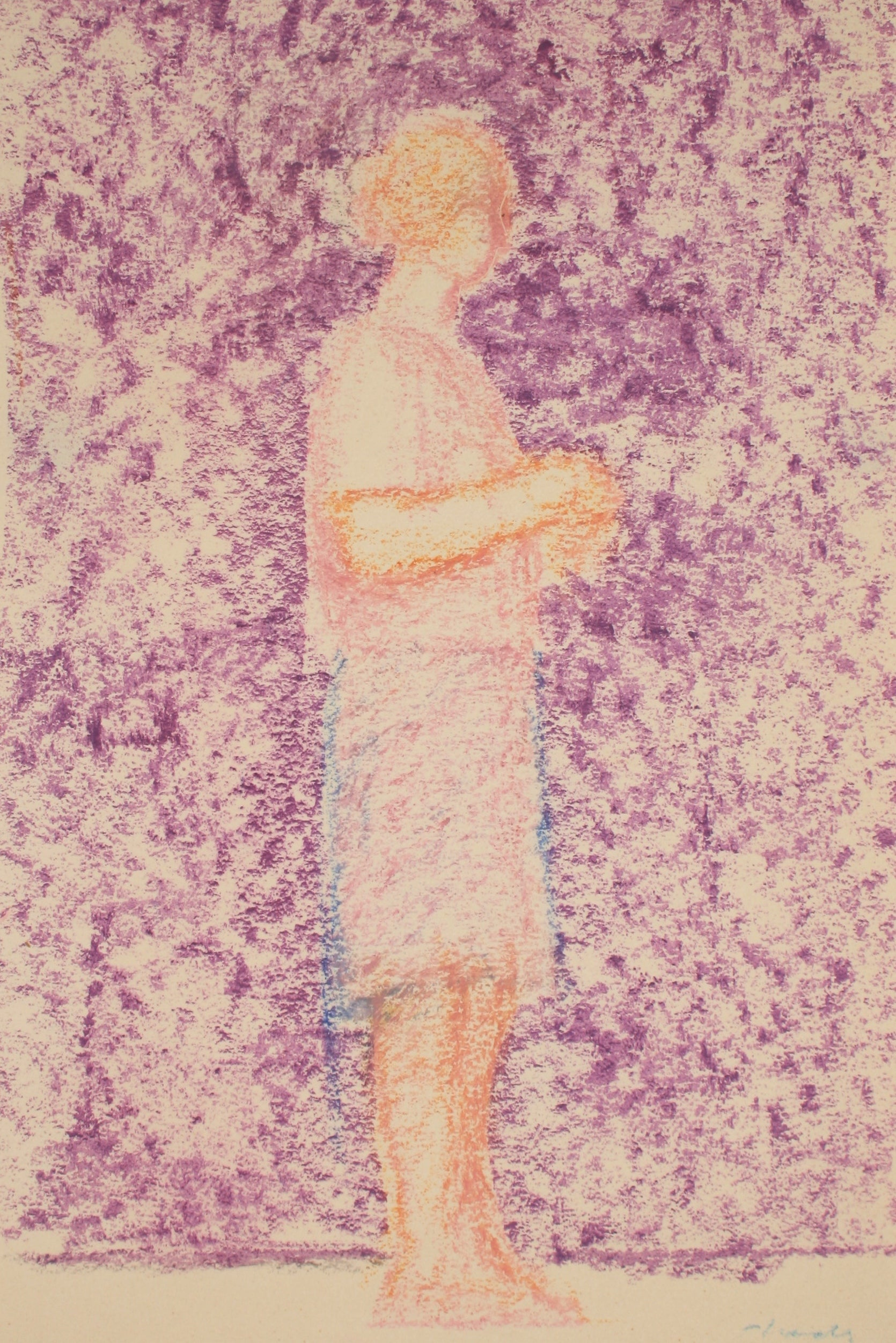 Woman in Pink <br>Late 20th Century Pastel <br><br>#71515