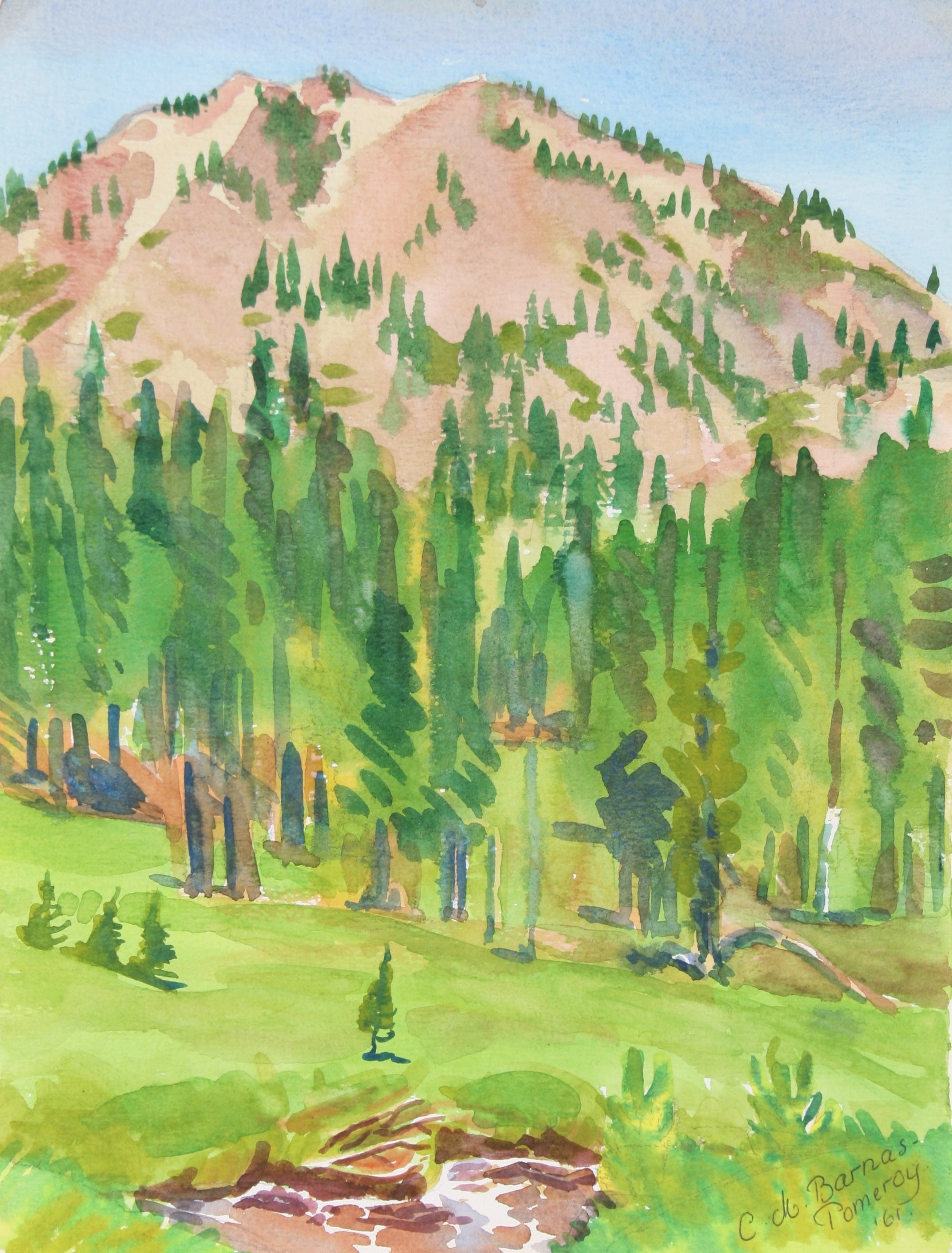 <i>King's Creek Meadow</i><br>1961 Watercolor<br><br>#72021