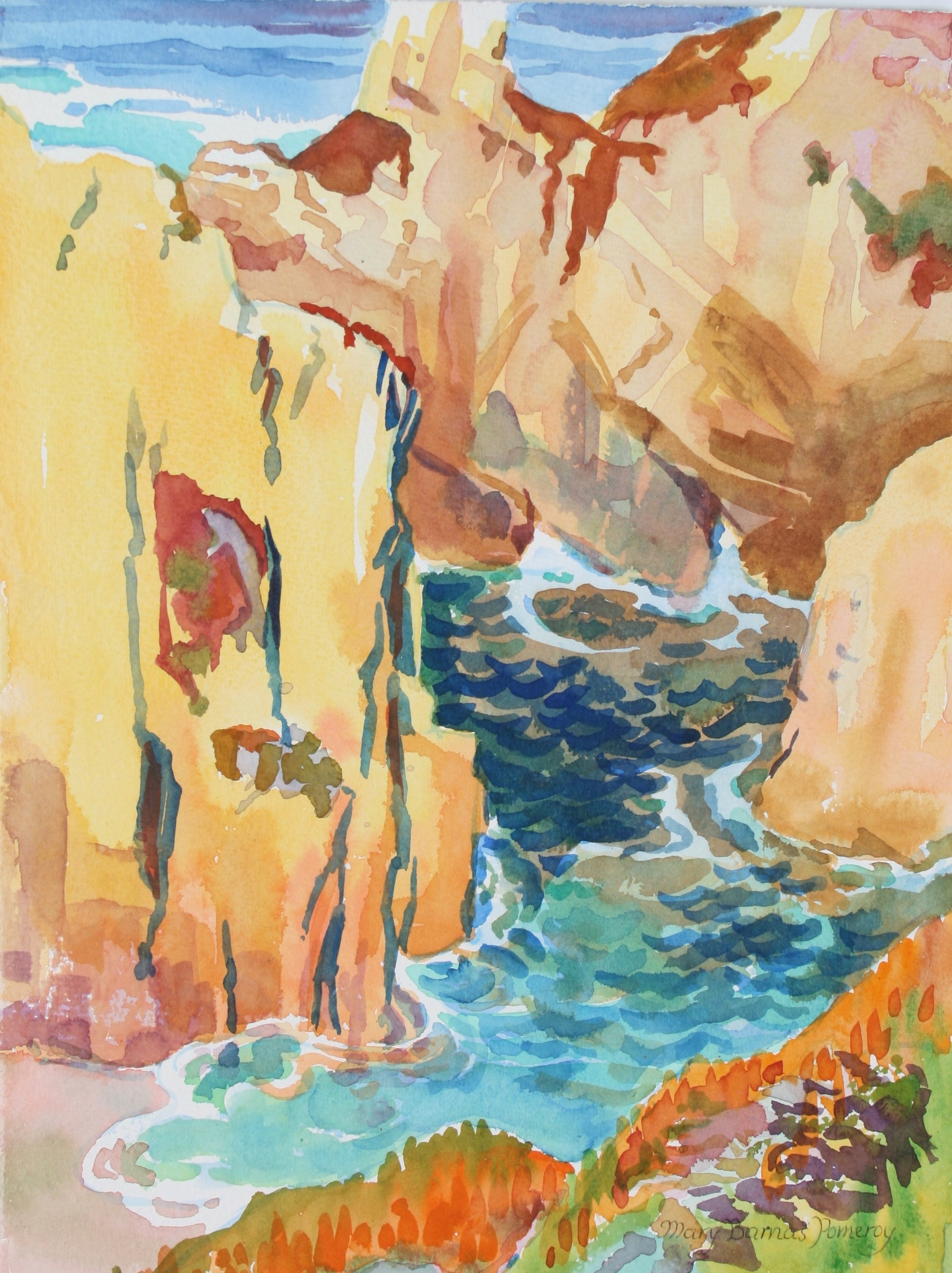 <i>Round the Cliffs</i><br>1987 Watercolor<br><br>#72037