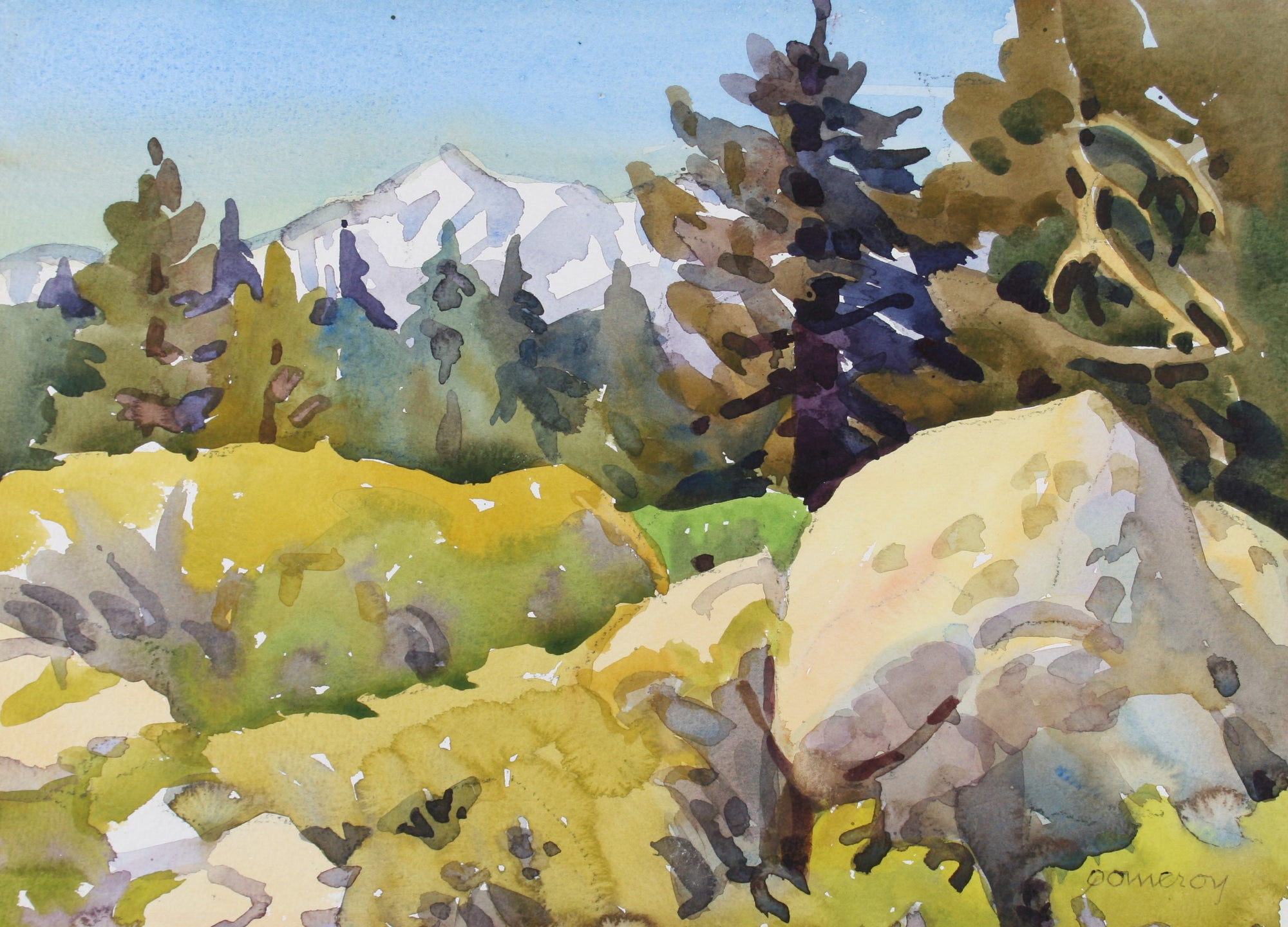 <i>High Sierra Woodland</i> <br>20th Century Watercolor <br><br>#72040