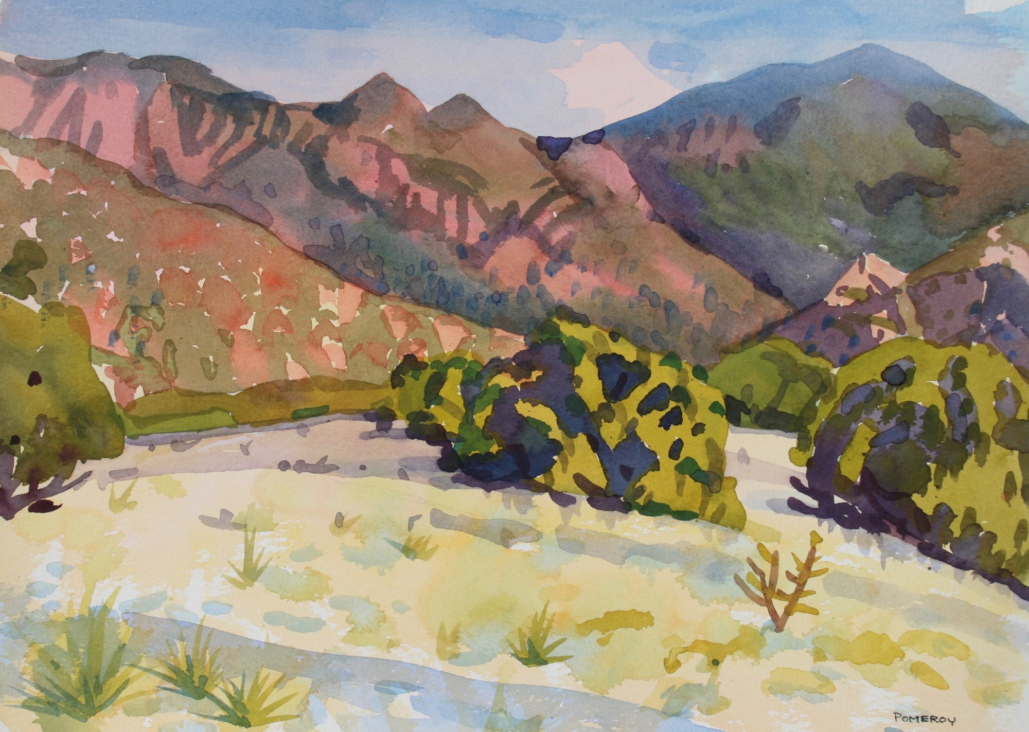 <i>Albuquerque Bajada</i> <br>1992 Watercolor <br><br>#72043