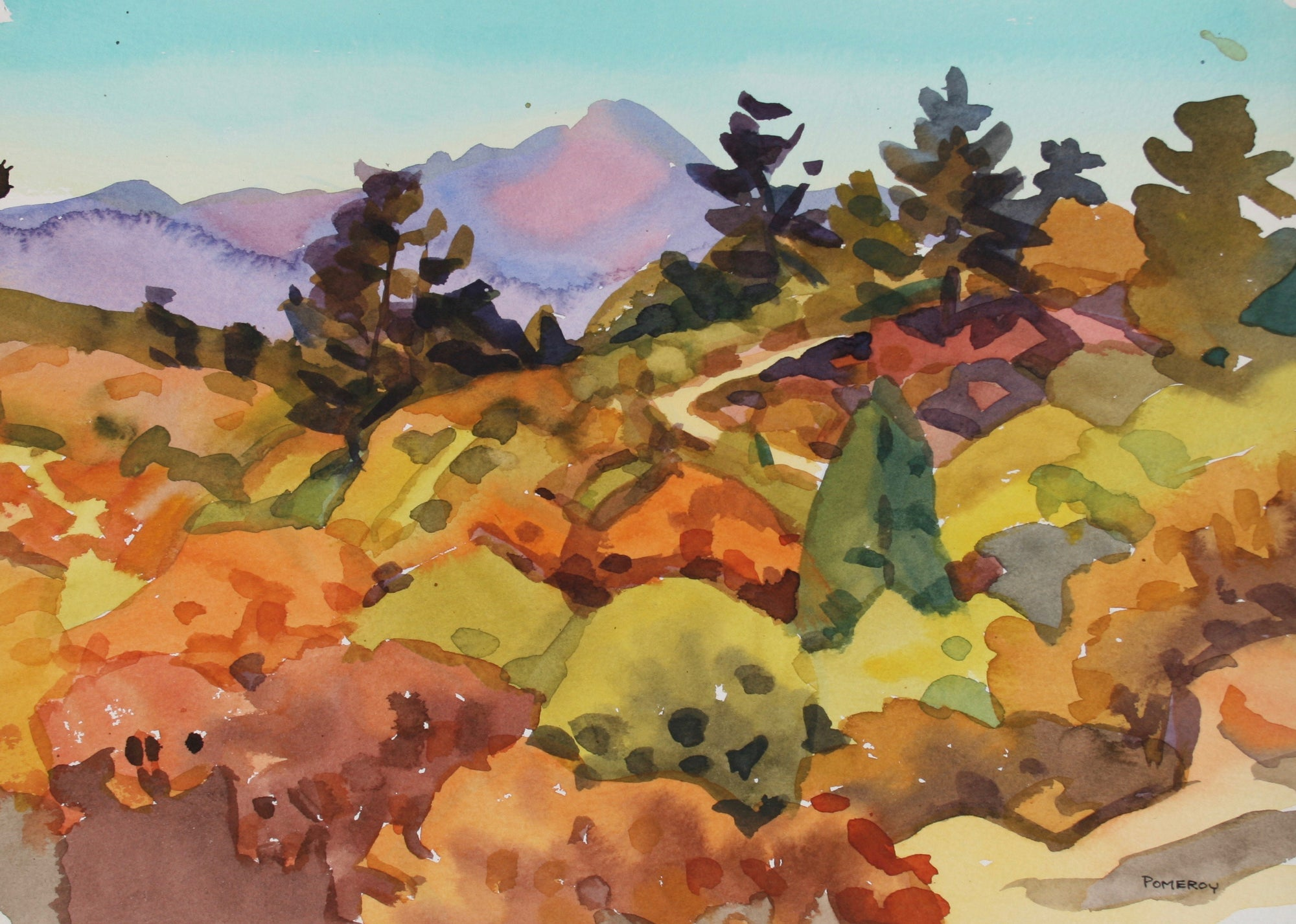 <i>Palmer Park, Colorado</i> <br>Late 20th Century Watercolor <br><br>#72046
