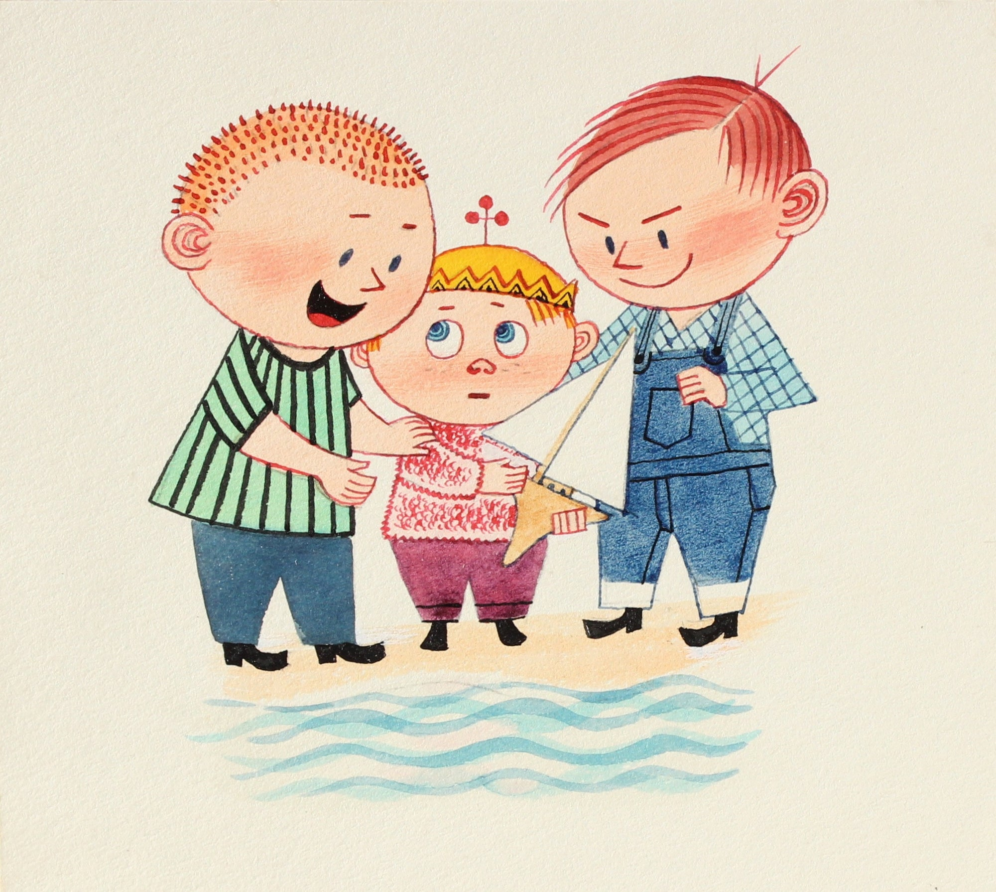 <i>Persuasion</i><br>Mid Century Gouache Comic Illustration<br><br>#7755