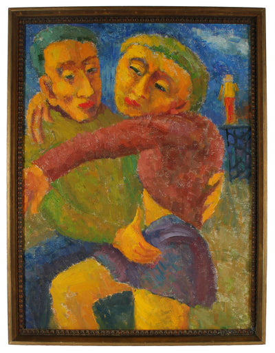 <i>Man and Woman</i> <br>1955 Oil <br><br>#13934