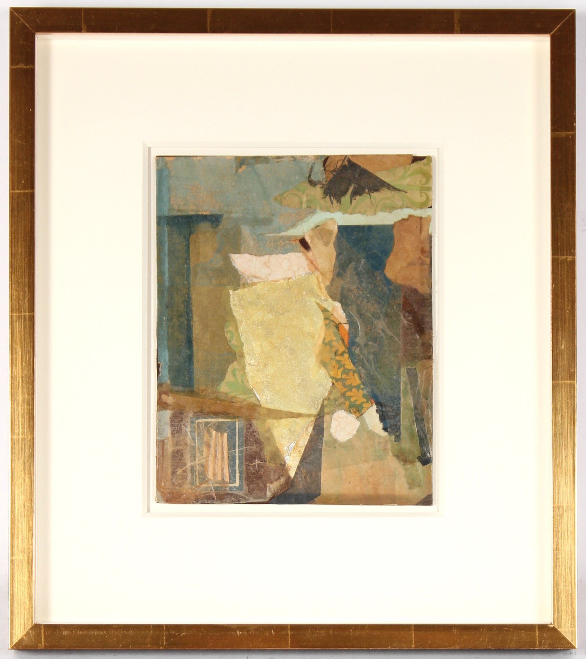 Abstracted Collage in Warm Colors<br>Mid Century Collage<br><br>#81062