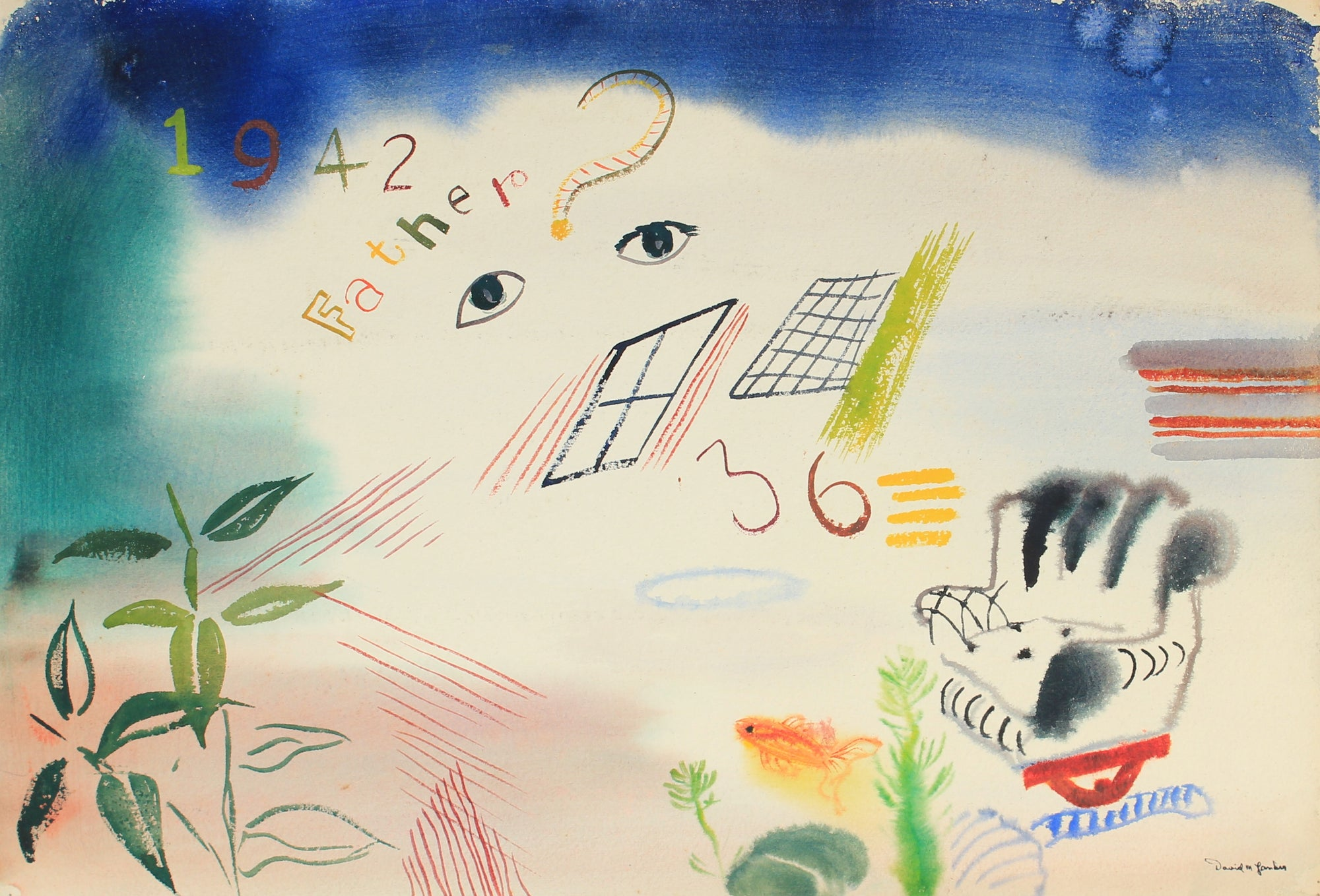 Surreal Forms & Shapes<br>1942 Watercolor<br><br>#82276