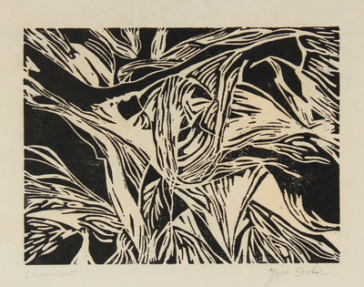 Graphic Abstract Print<br>Late 20th Century Linocut<br><br>#82519