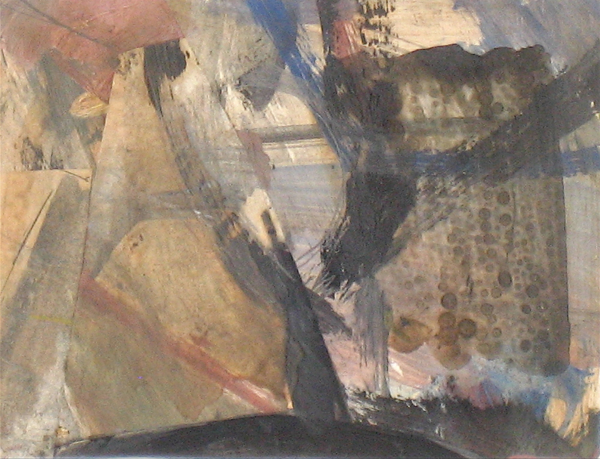 Organic Abstract <br>Circa 1960 Mixed Media <br><br>#8324