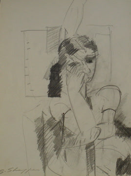 Abstract Figure Drawing <br>Circa 1960 Graphite <br><br>#8429