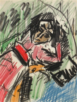 Abstract Figure Drawing <br>Circa 1960 Pastel <br><br>#8430