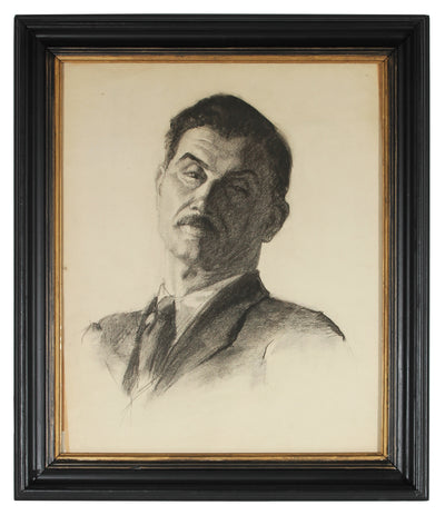 <i>Self Portrait</i><br>Mid Century Charcoal<br><br>#86151