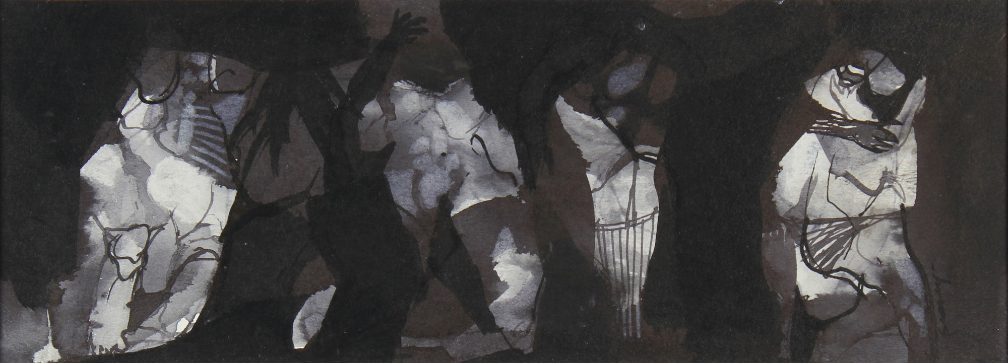 <i>Figures in the Flood</i><br>Mixed Media, 1965<br><br>#0415