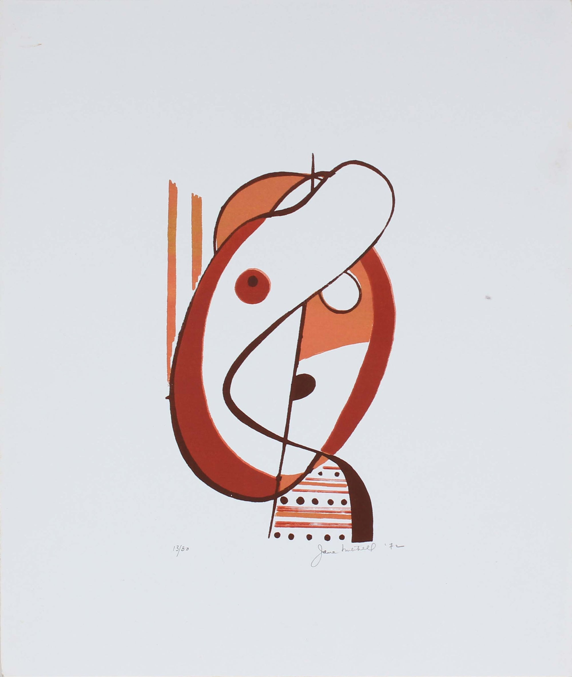 Abstracted Figural Form<br>1972 Serigraph<br><br>#86302