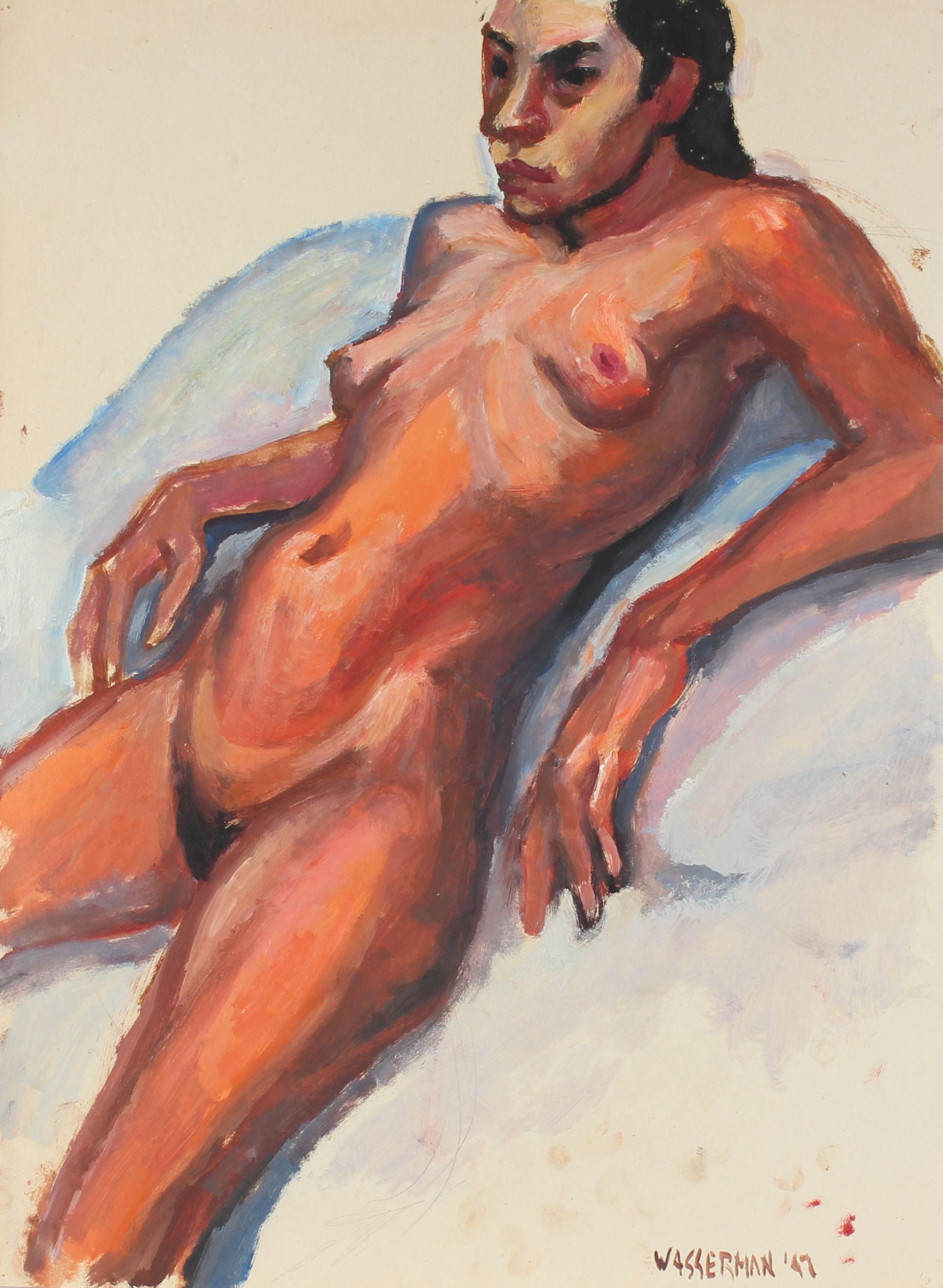 Portrait of a Nude Woman, Mexico <br>1947 Oil <br><br>#86558