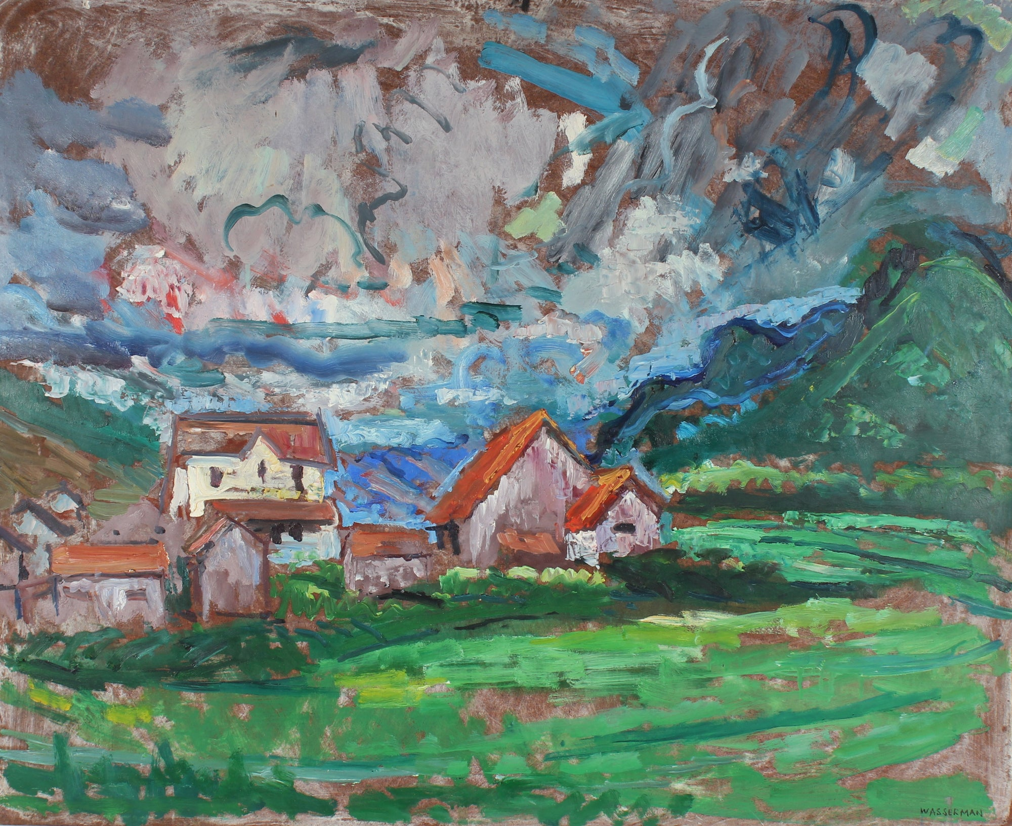 Carmel Countryside Landscape<br>Mid Century Oil<br><br>#86970