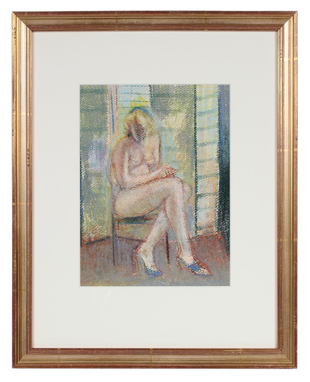 Pastel Seated Female Nude<br>Late 20th Century<br><br>#71532