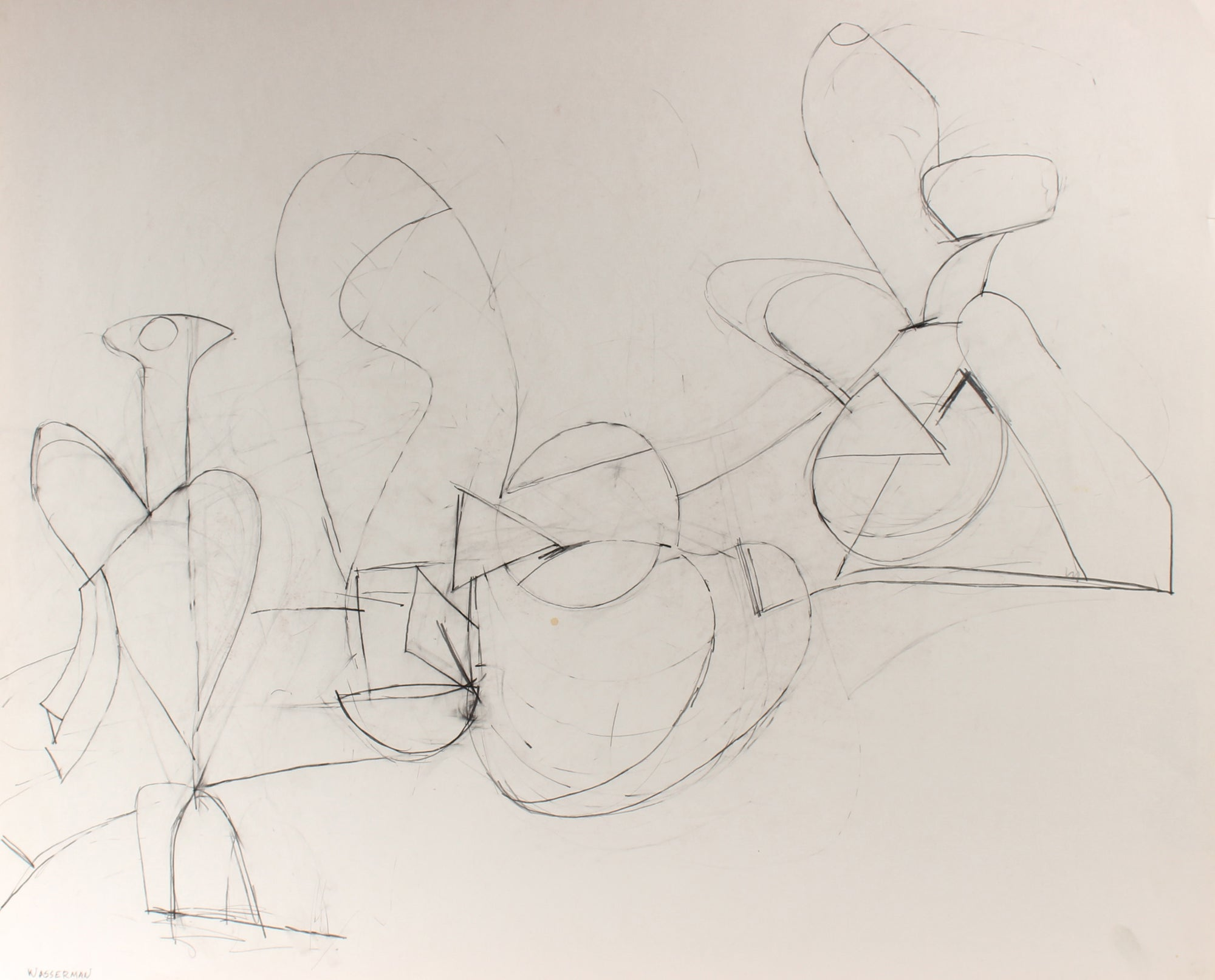Minimalist Abstracted Figures<br>1998 Graphite<br><br>#88255