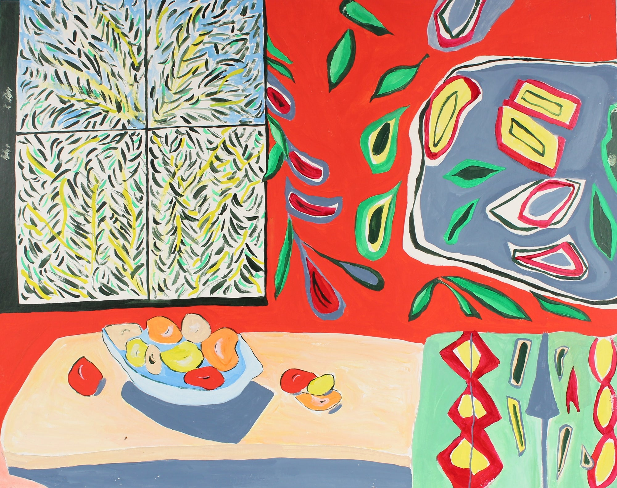 <i>Matisse Paints Fruit III</i><br>1994 Acrylic<br><br>#88453