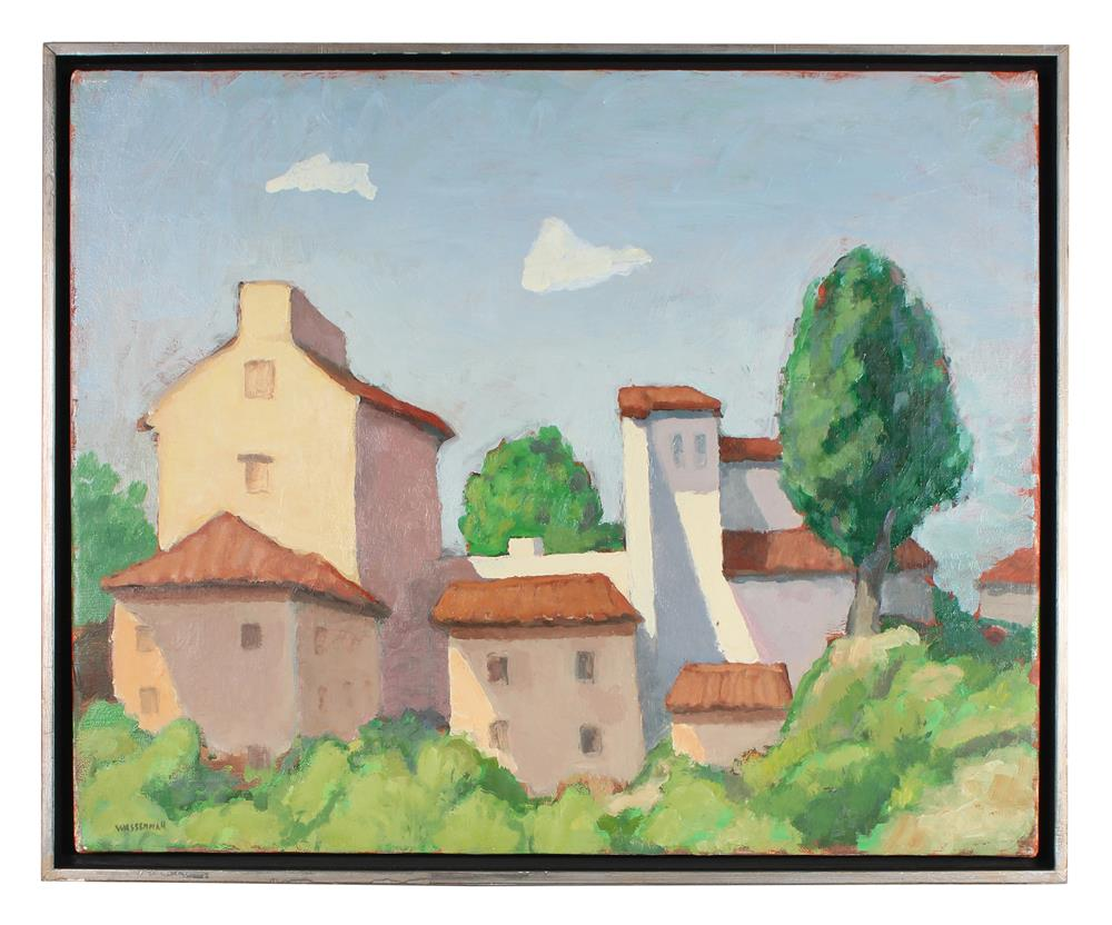 Idyllic European Landscape<br>Late 20th Century Oil<br><br>#88519