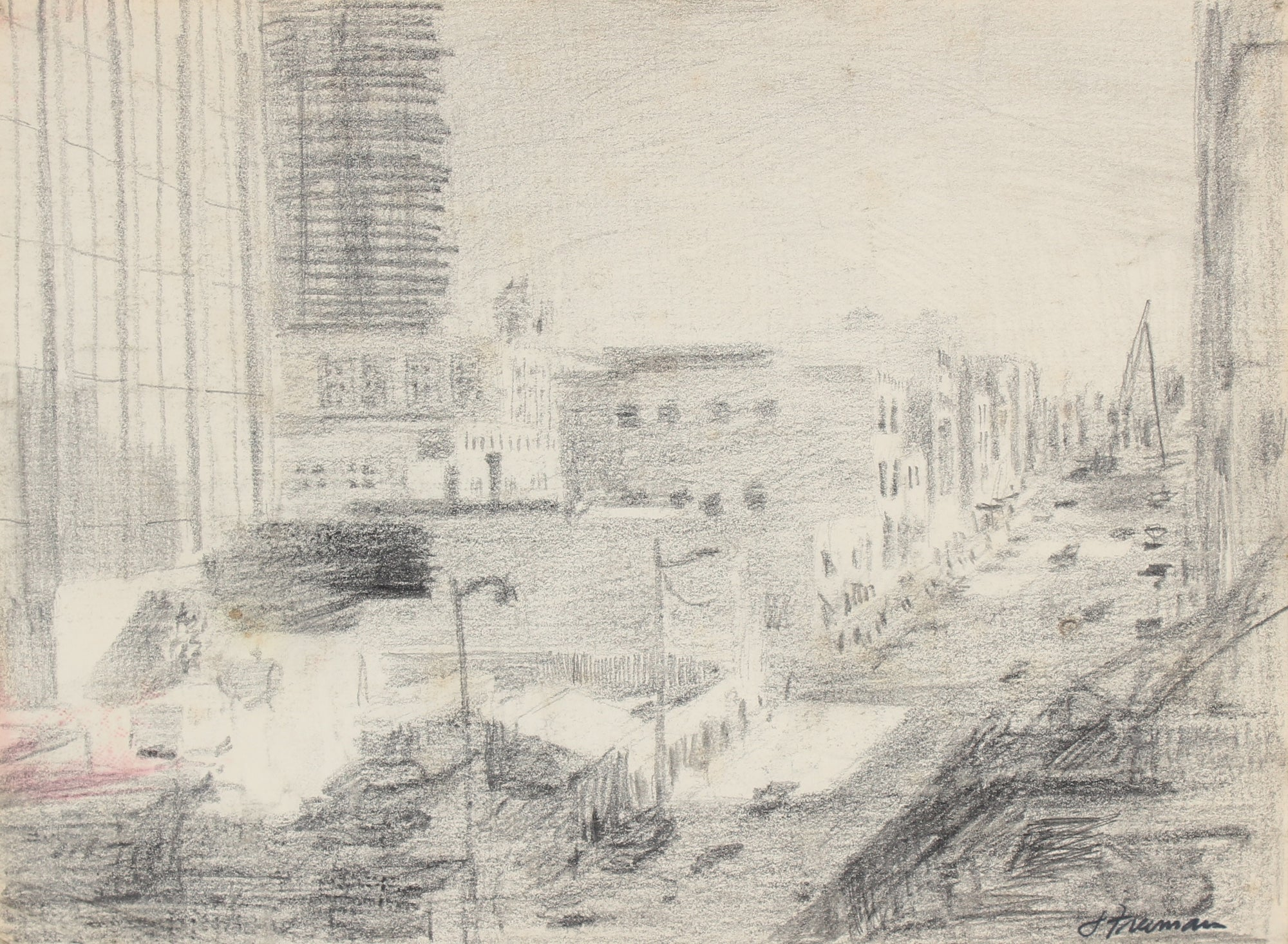 Downtown San Francisco in Graphite <br>1960s <br><br>#88910