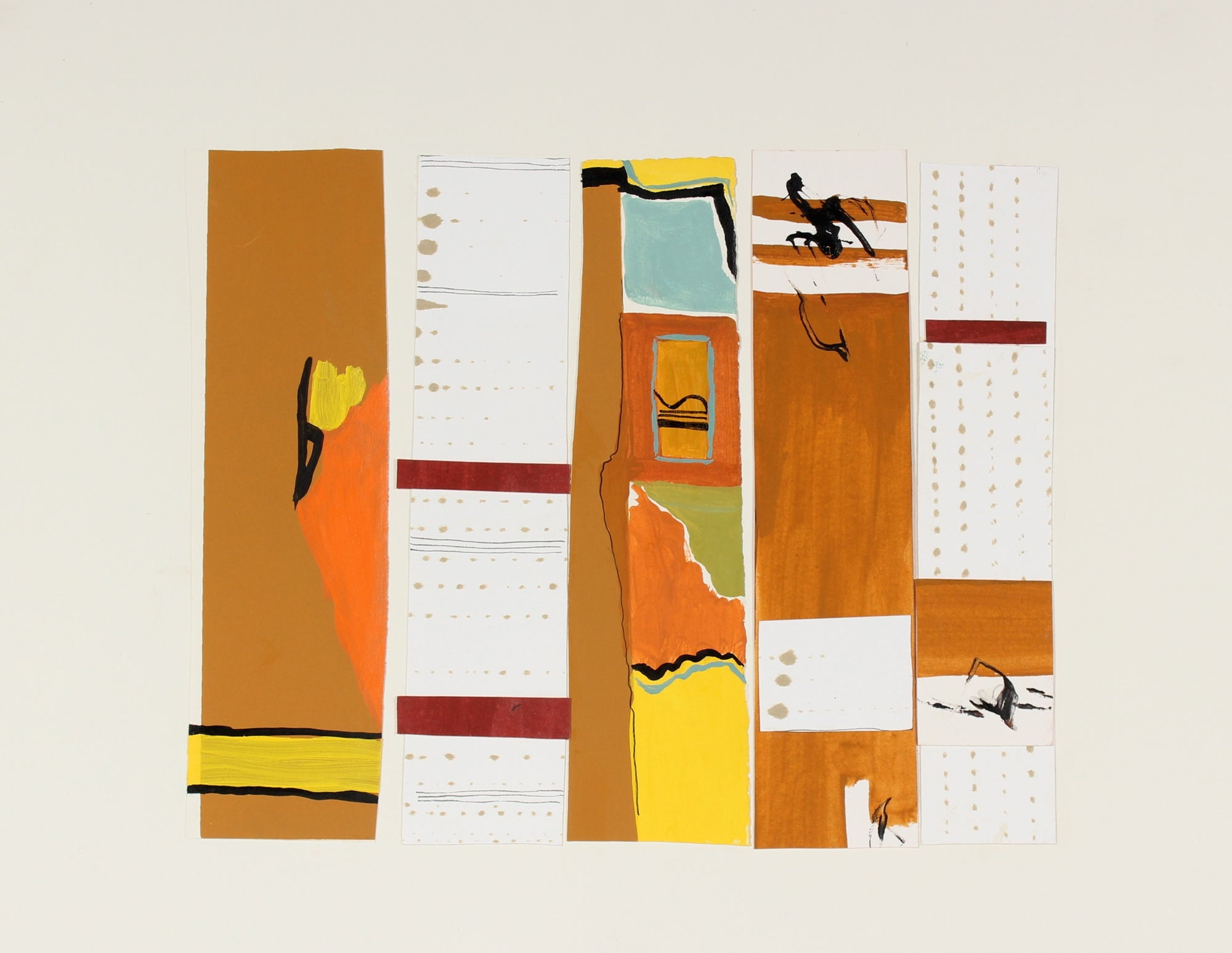 <i>5 Notations with Sienna</i><br>Acrylic, Ink & Collage, 2006<br><br>#89090